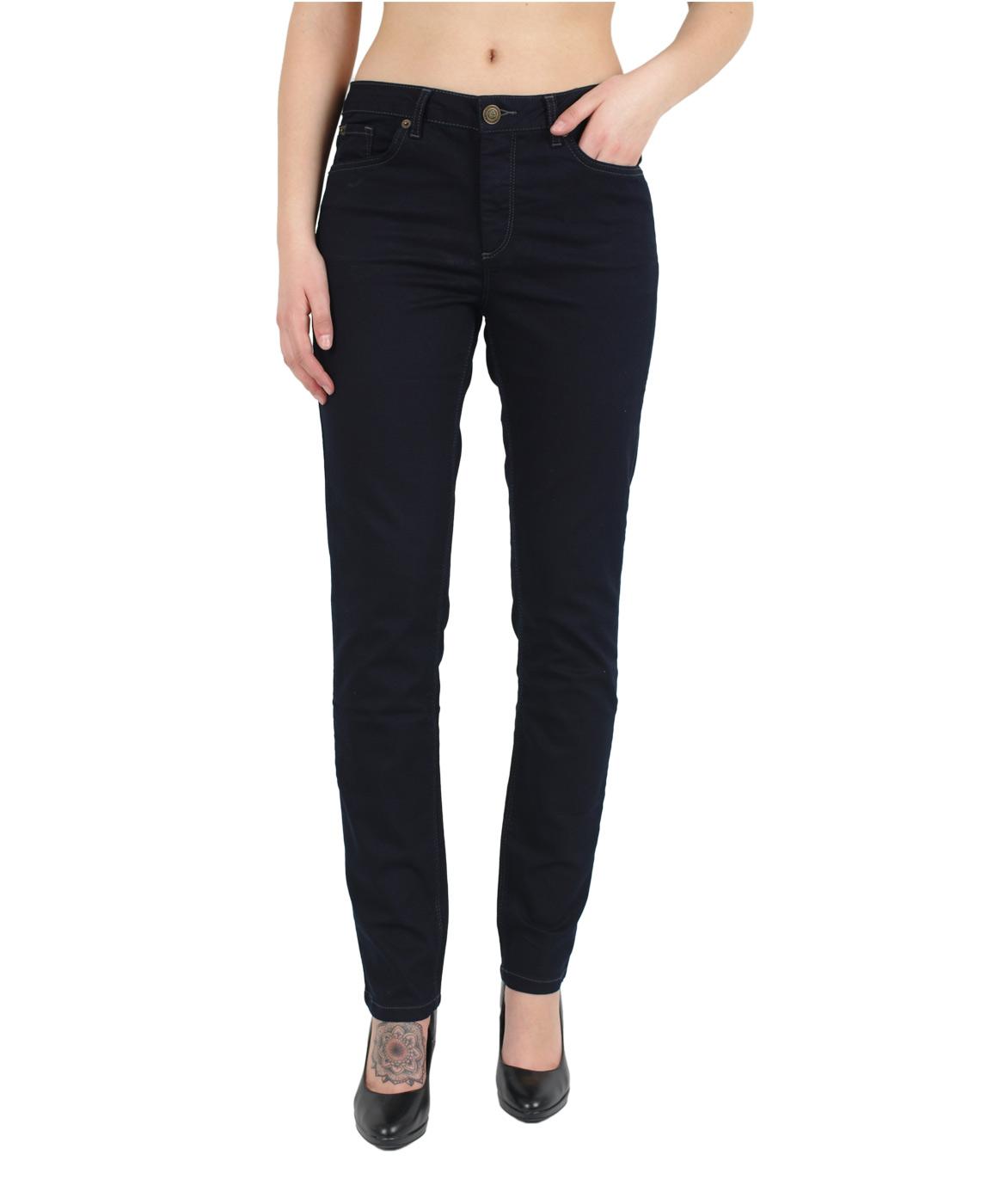 Hosen für Frauen - HIS MARYLIN Jeans Comfort Fit Rich Blue Black  - Onlineshop Jeans Meile