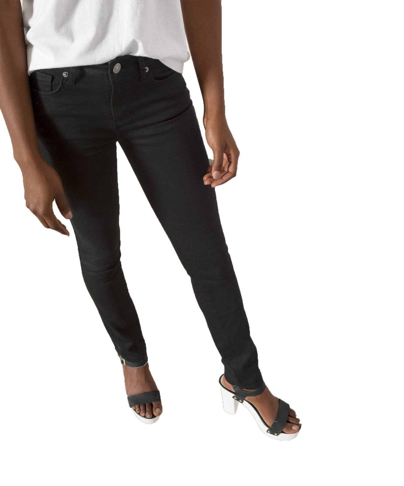 Hosen für Frauen - HIS MARYLIN Jeans Slim Fit Black Wash  - Onlineshop Jeans Meile