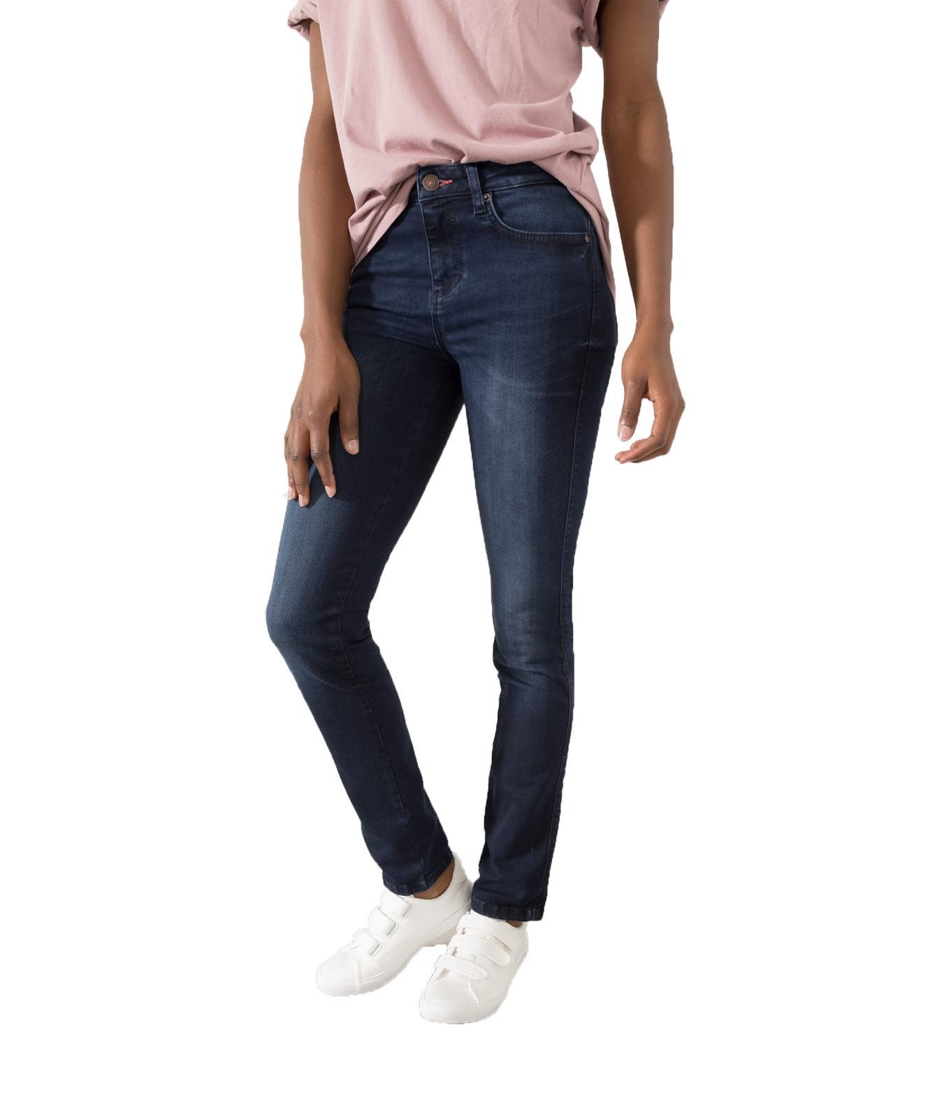 Hosen für Frauen - HIS MARYLIN Jeans Slim Fit Blue Black Wash  - Onlineshop Jeans Meile