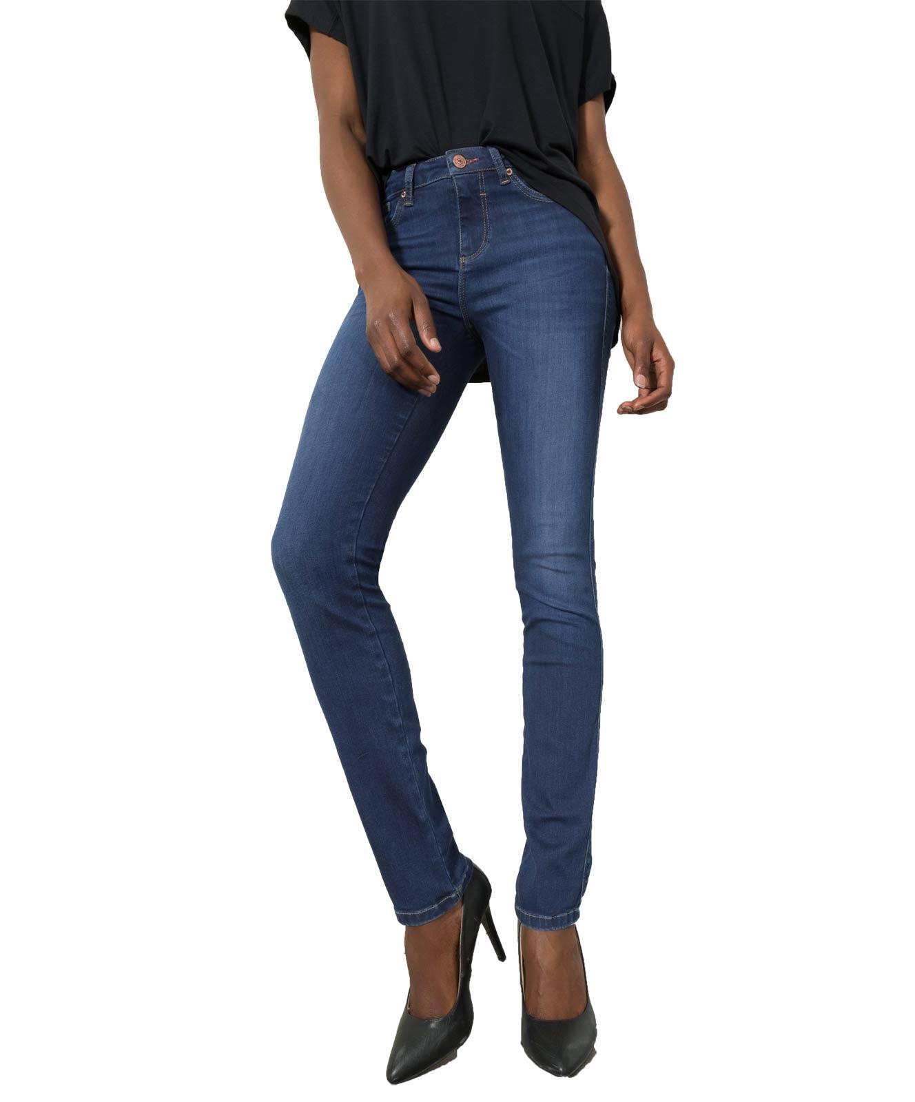 Hosen für Frauen - HIS MARYLIN Jeans Slim Fit Medium Blue Wash  - Onlineshop Jeans Meile