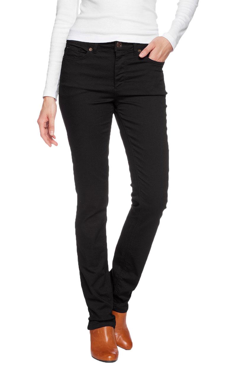 Hosen für Frauen - HIS Marylin Jeans Bi Elastischer Denim Power Black  - Onlineshop Jeans Meile