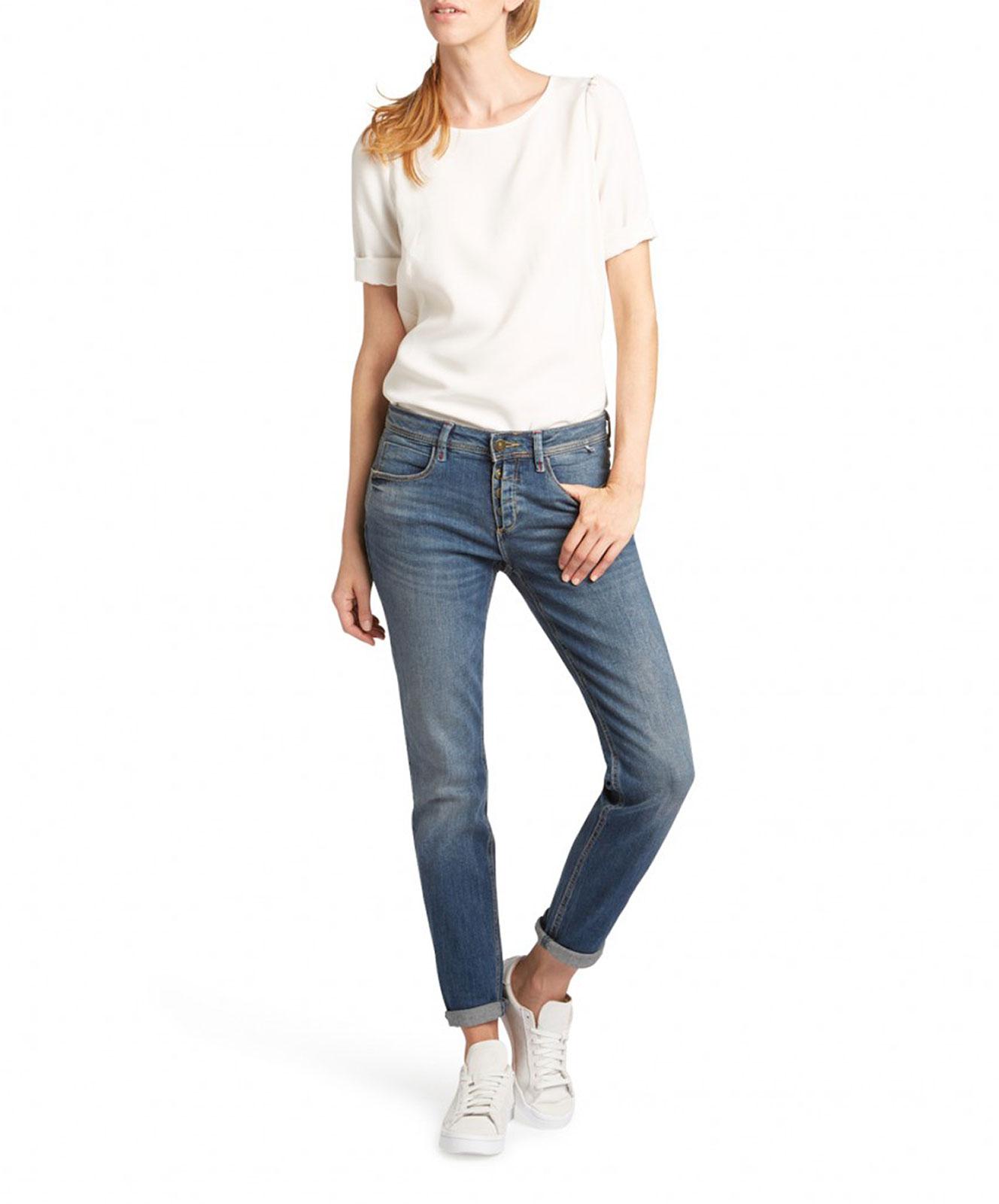 Hosen für Frauen - HIS MONROE Jeans Skinny Fit Vision Blue  - Onlineshop Jeans Meile