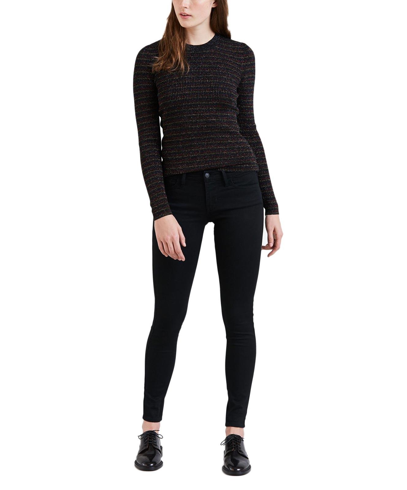 Hosen für Frauen - Levi's 710 Schwarze Super Skinny Jeans mit Hyperstretch  - Onlineshop Jeans Meile