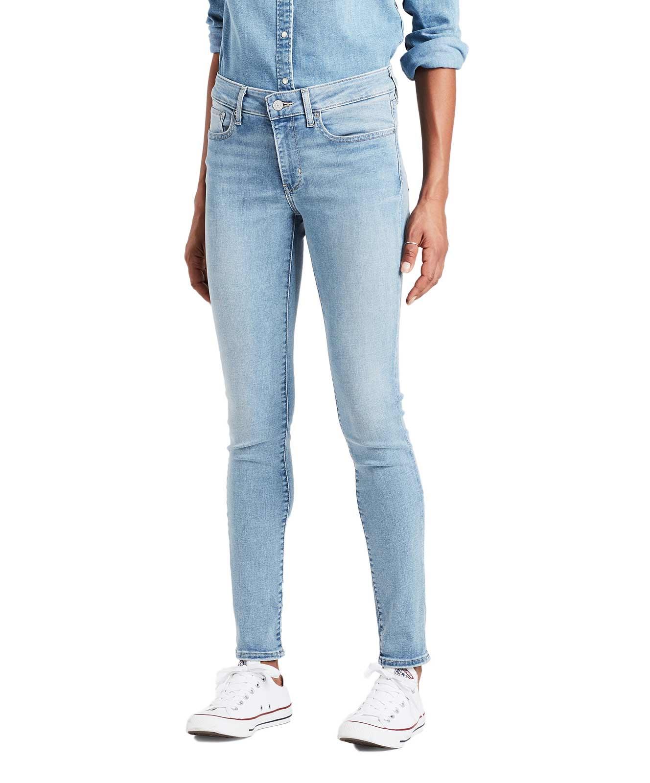 Hosen für Frauen - Levi's 711 Enge Jeans in hellblau mit mittelhohem Bund  - Onlineshop Jeans Meile