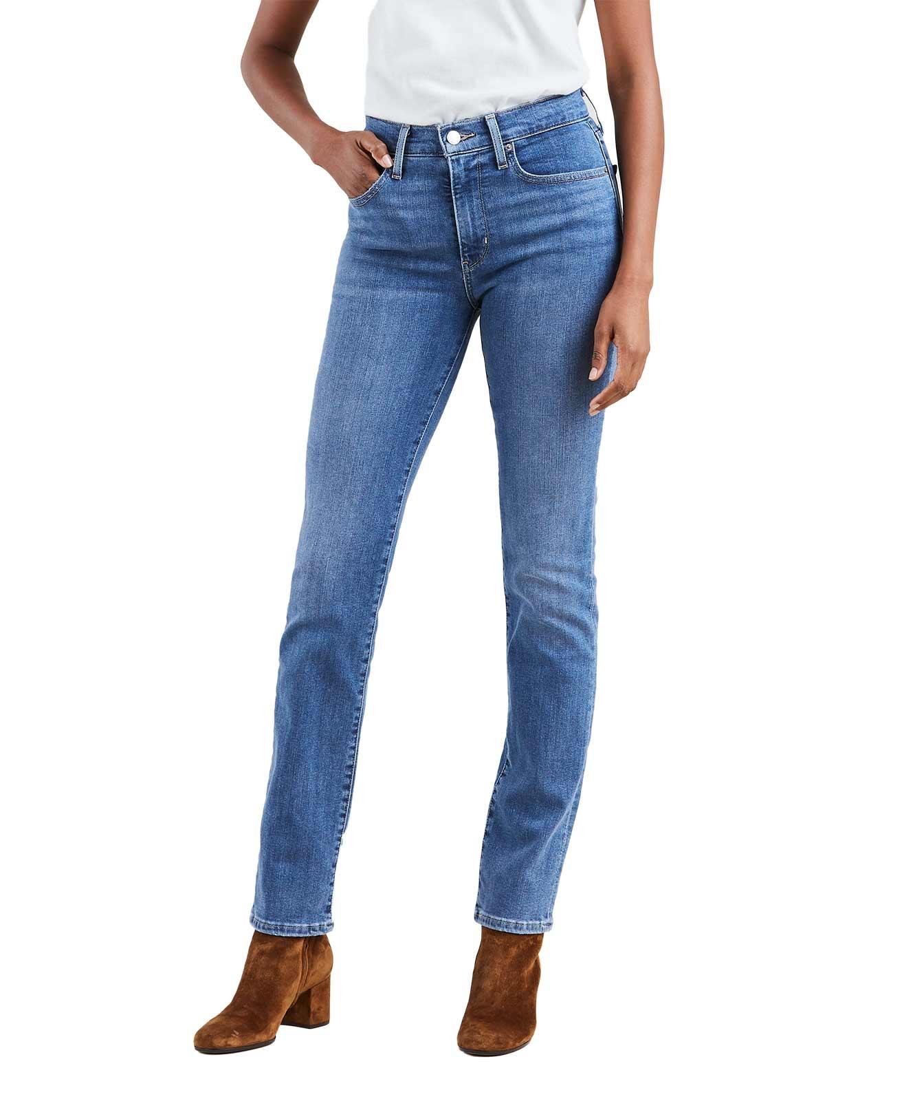 Hosen für Frauen - Levi's 724 Gerade Jeans mit hohem Bund in Stone Optik  - Onlineshop Jeans Meile