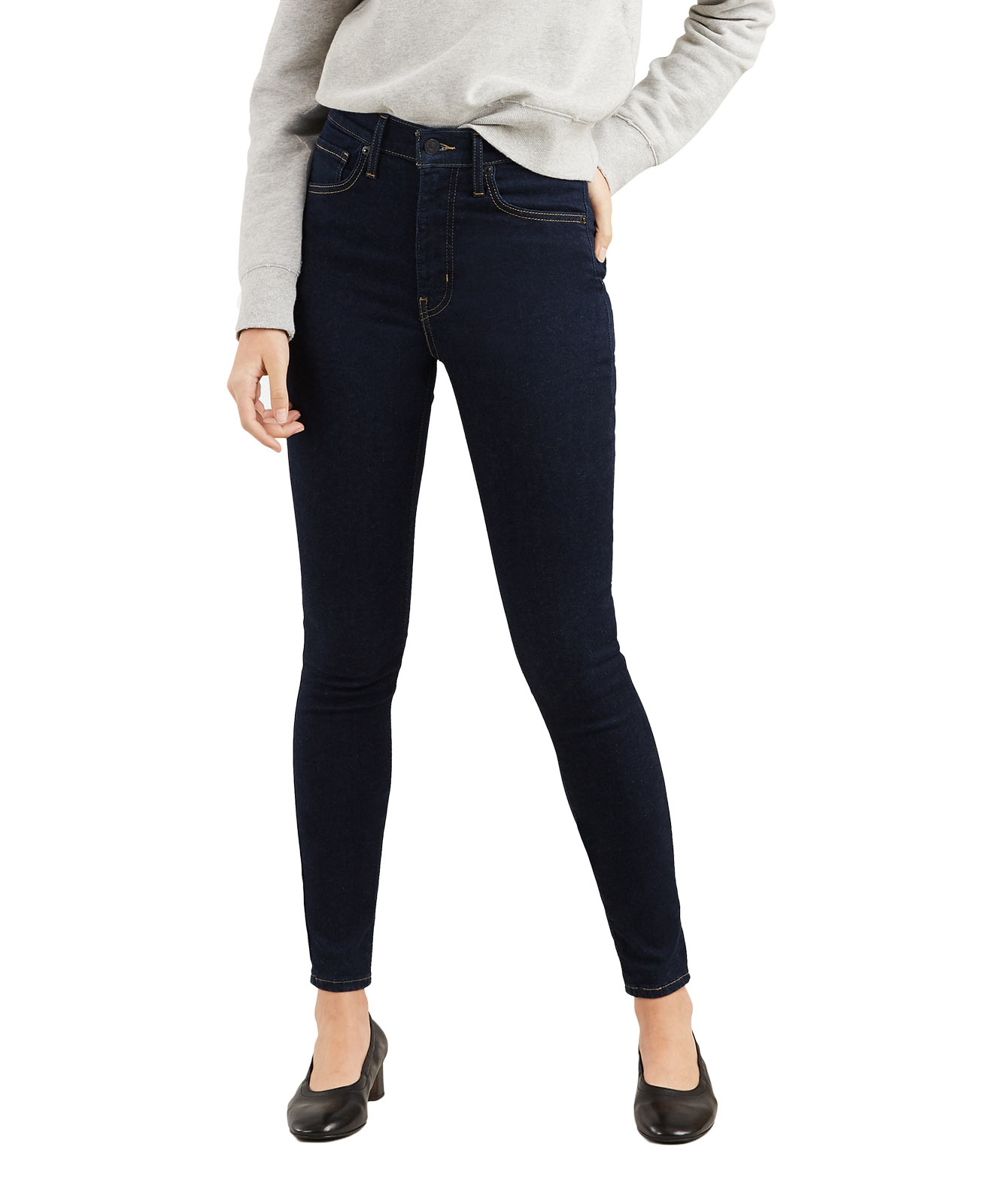 Hosen - Levi's Mile High Super Skinny Jeans in Rinsewash  - Onlineshop Jeans Meile