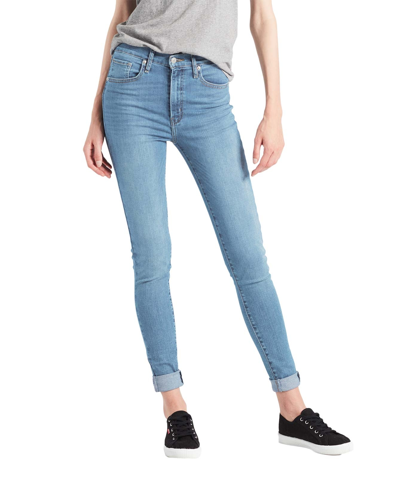 Hosen - Levi's Mile High Super Skinny Jeans in You Got Me Waschung  - Onlineshop Jeans Meile