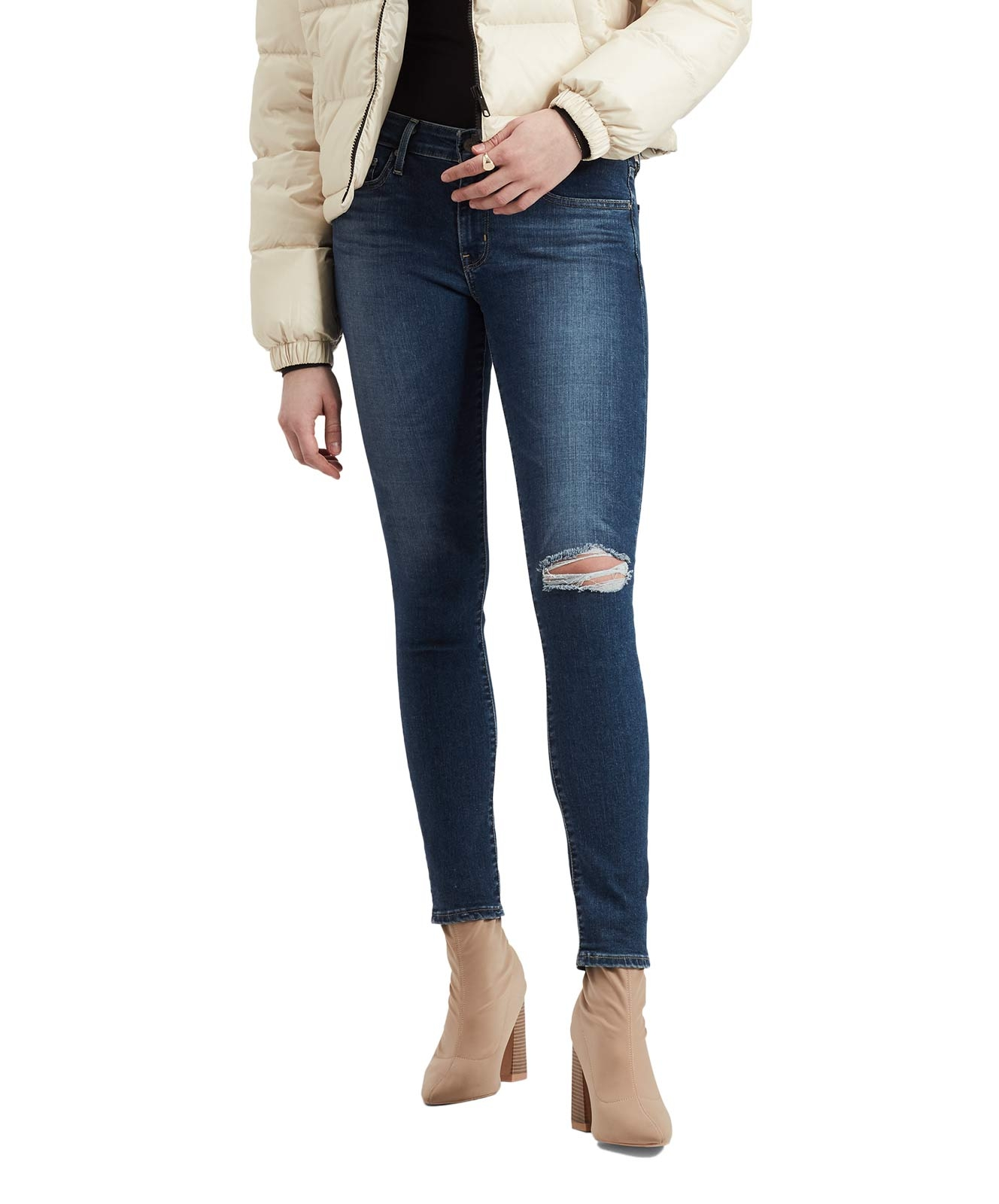 Hosen für Frauen - Levi's Skinny Jeans 711 im dunklem Used Look  - Onlineshop Jeans Meile