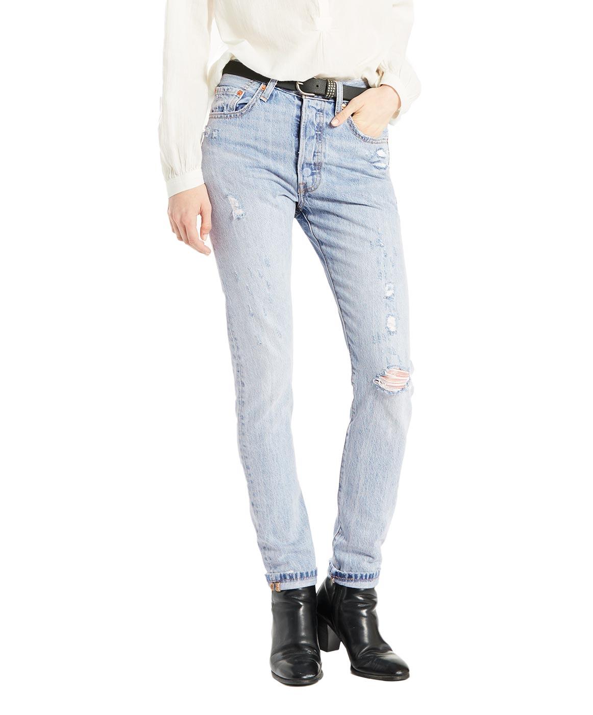 Hosen für Frauen - Levi's 501 Damen Skinny Fit Clear Minds  - Onlineshop Jeans Meile