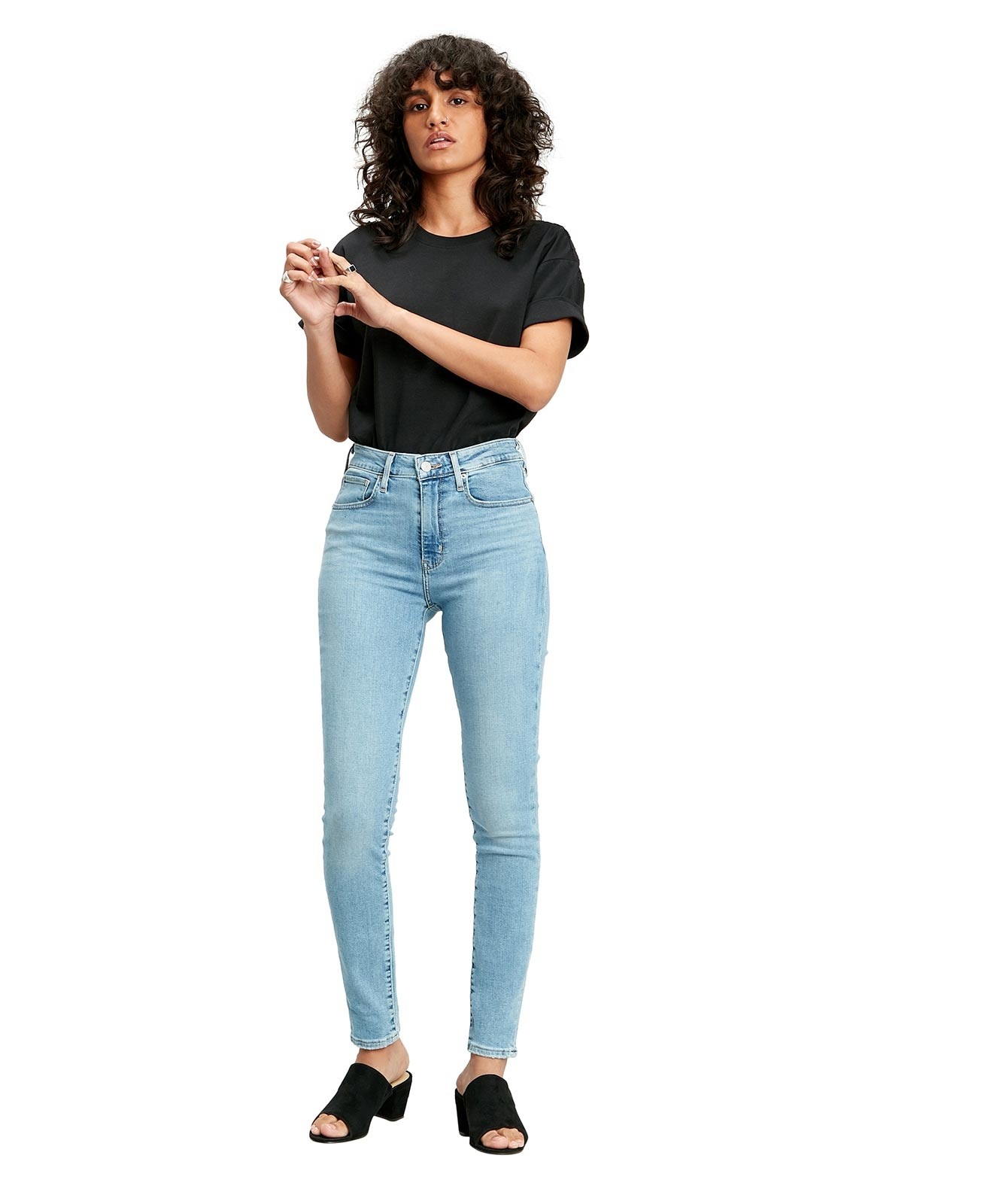 Hosen - Levis High Waisted Jeans 721 High Rise Skinny in Have A Nice Day  - Onlineshop Jeans Meile