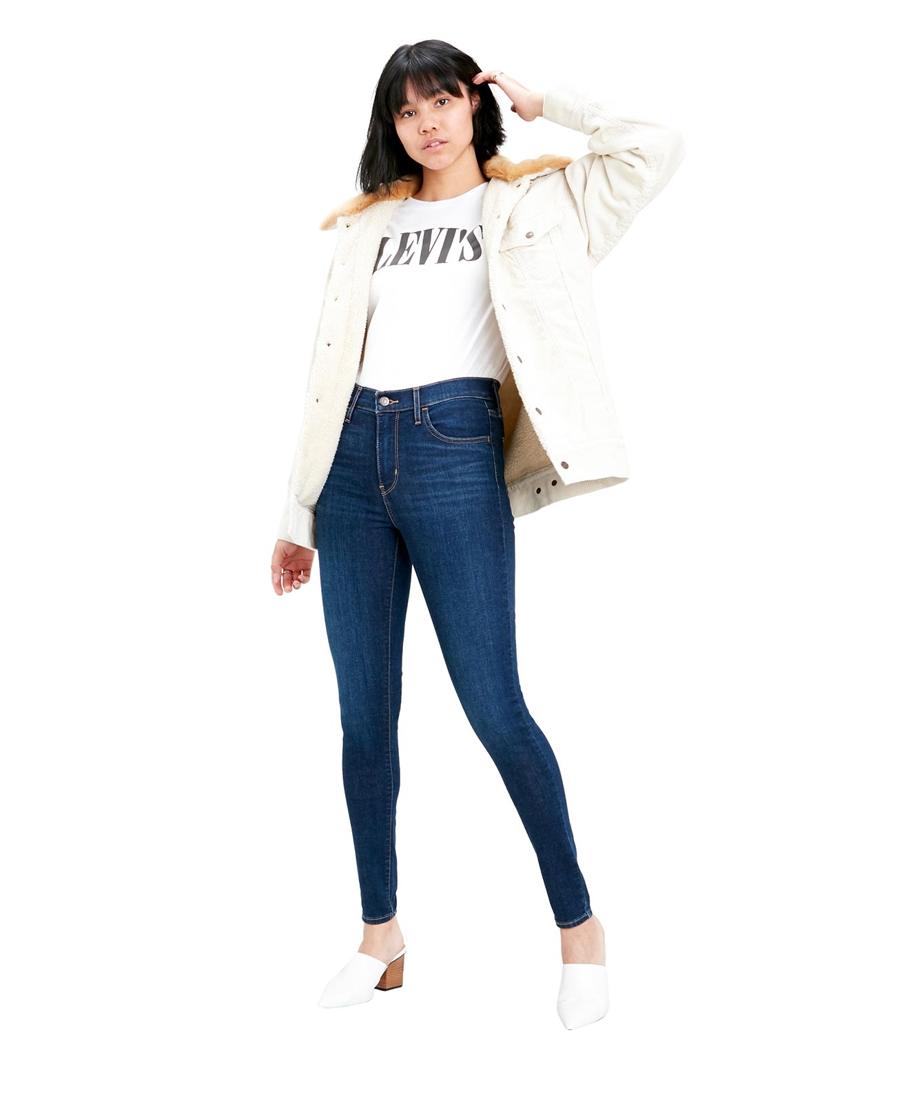 Hosen - Levis High Waisted Jeans 720 High Rise in Indigo Daze  - Onlineshop Jeans Meile