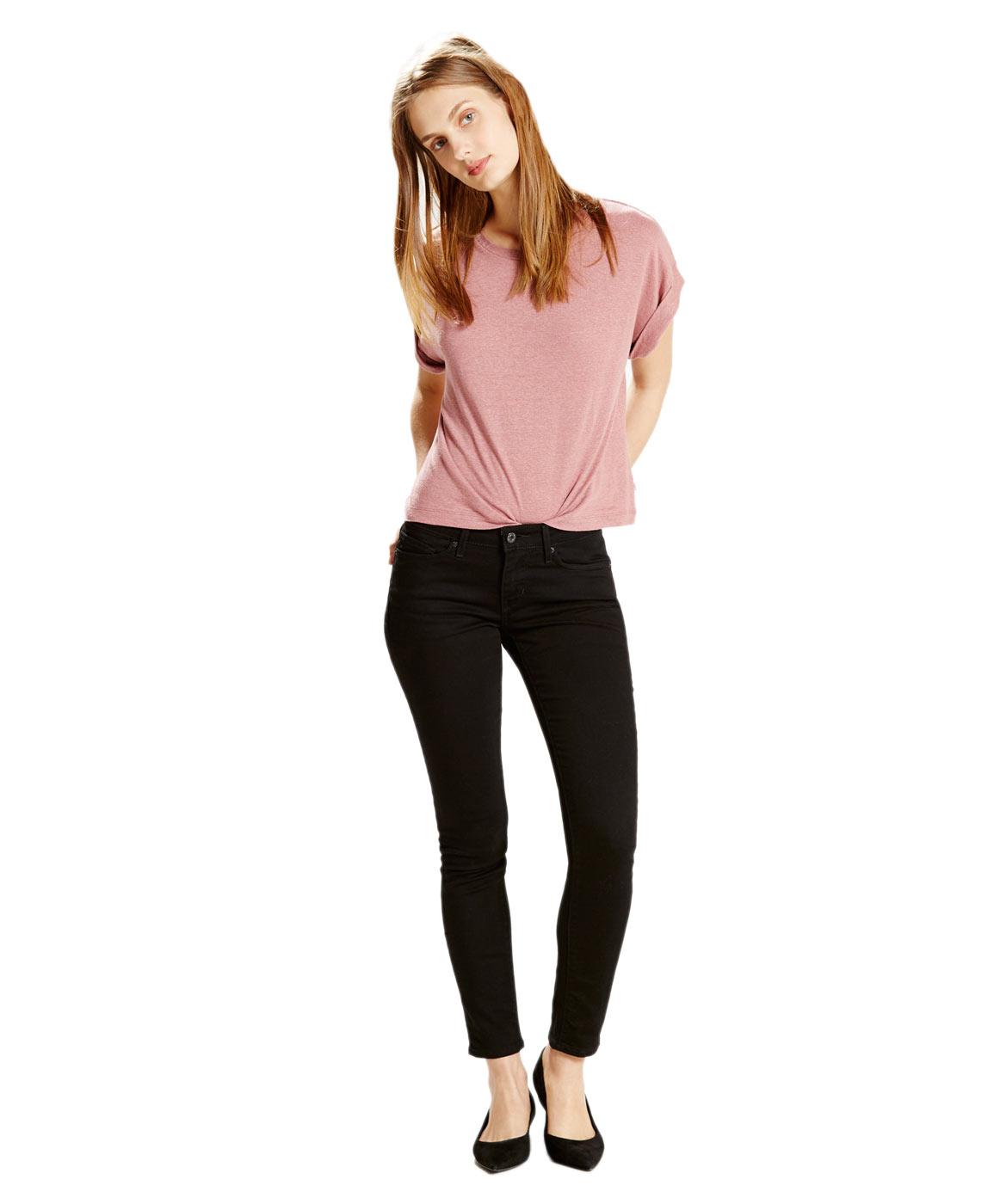 Hosen - Levis Jeans Röhre 711 Skinny in Black Sheep  - Onlineshop Jeans Meile