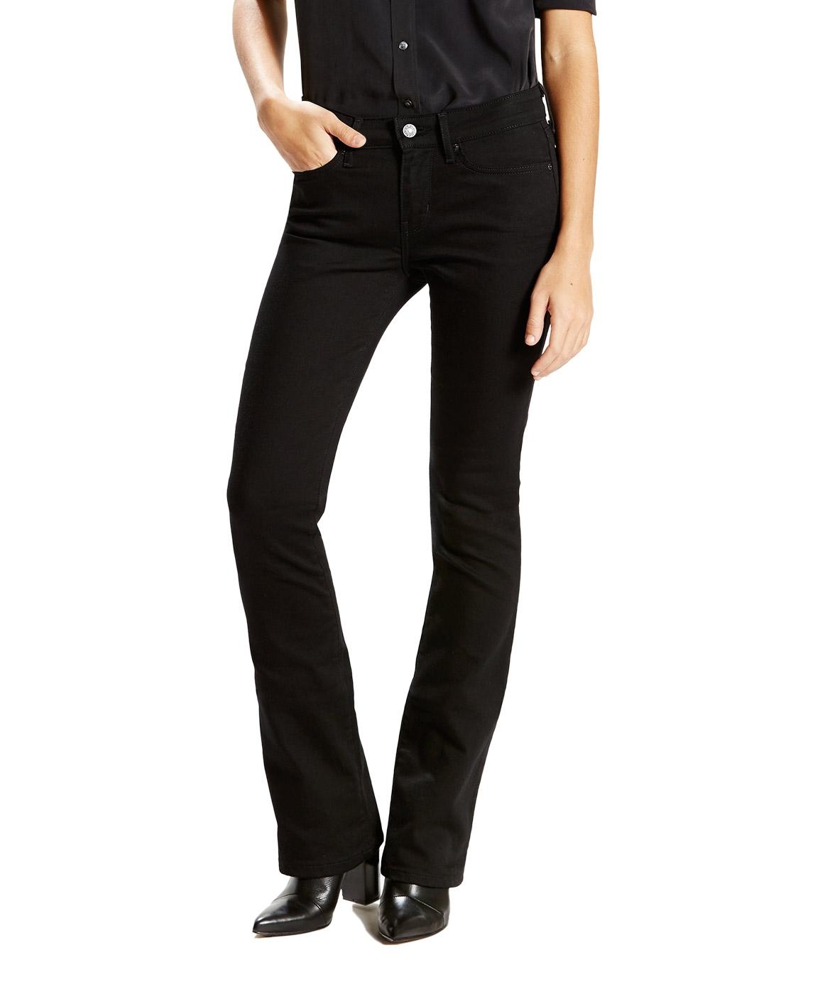 Hosen für Frauen - LEVI'S 715 Bootcut Jeans Slim Fit Black Sheep  - Onlineshop Jeans Meile