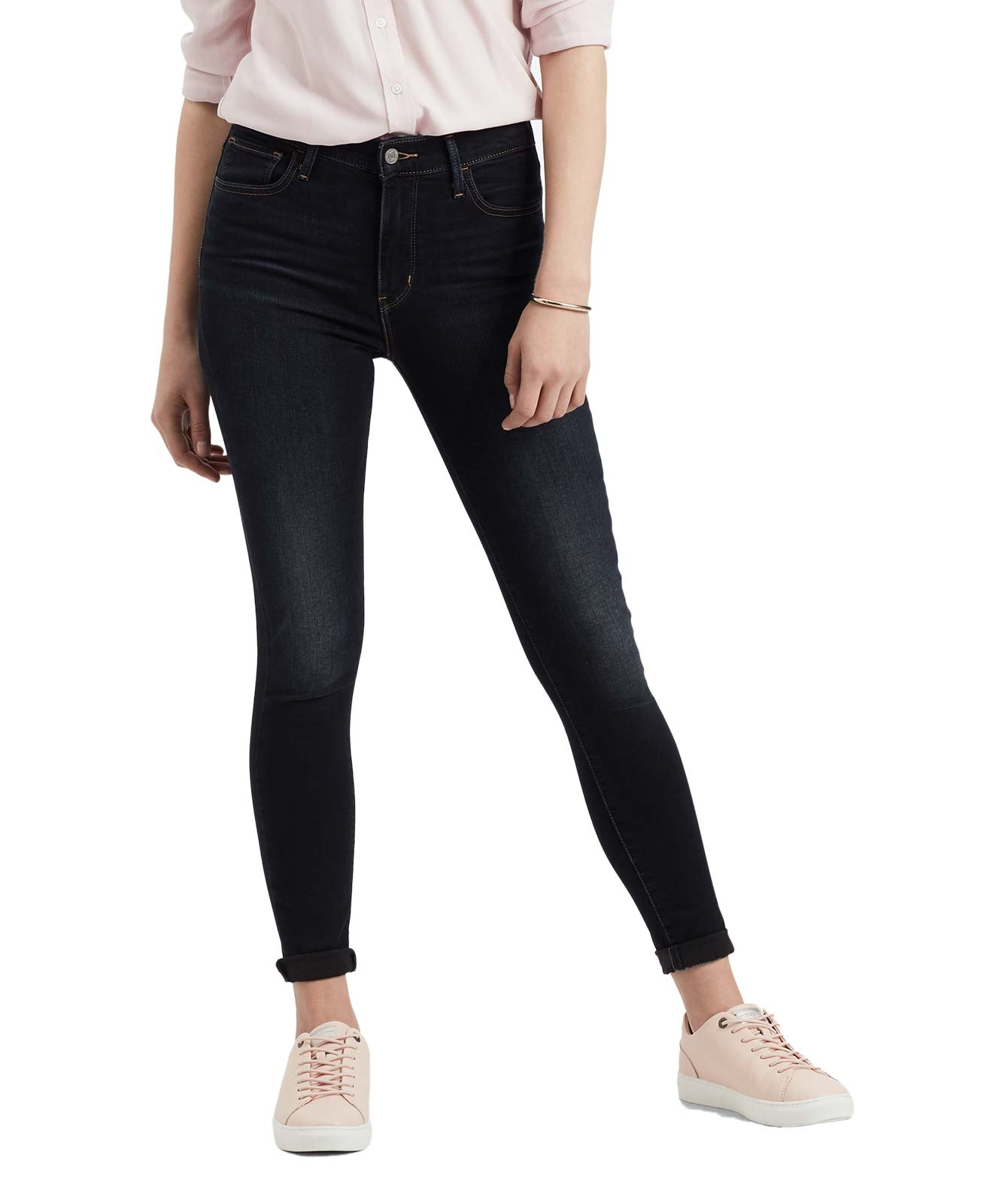 Hosen - Levis 720 dunkle High Waisted Skinny Jeans  - Onlineshop Jeans Meile
