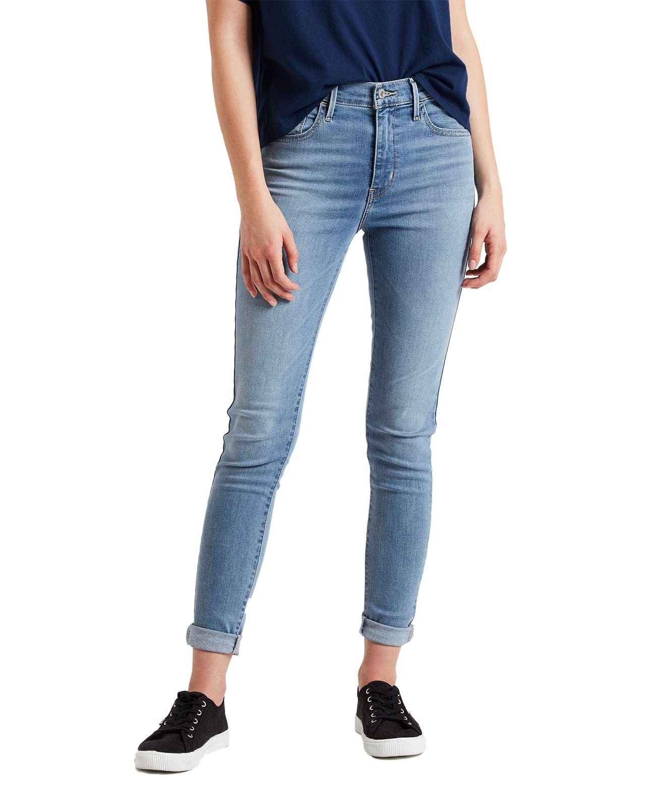 Hosen - Levis 720 Hellblaue High Waisted Skinny Jeans  - Onlineshop Jeans Meile