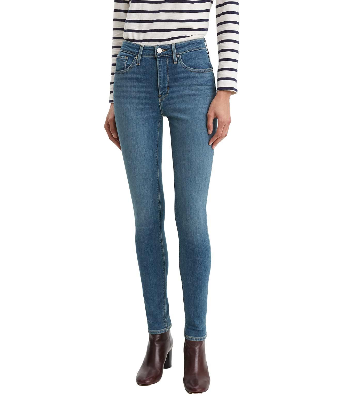Hosen für Frauen - Levis 721 helle Skinny Jeans mit hohem Bund  - Onlineshop Jeans Meile