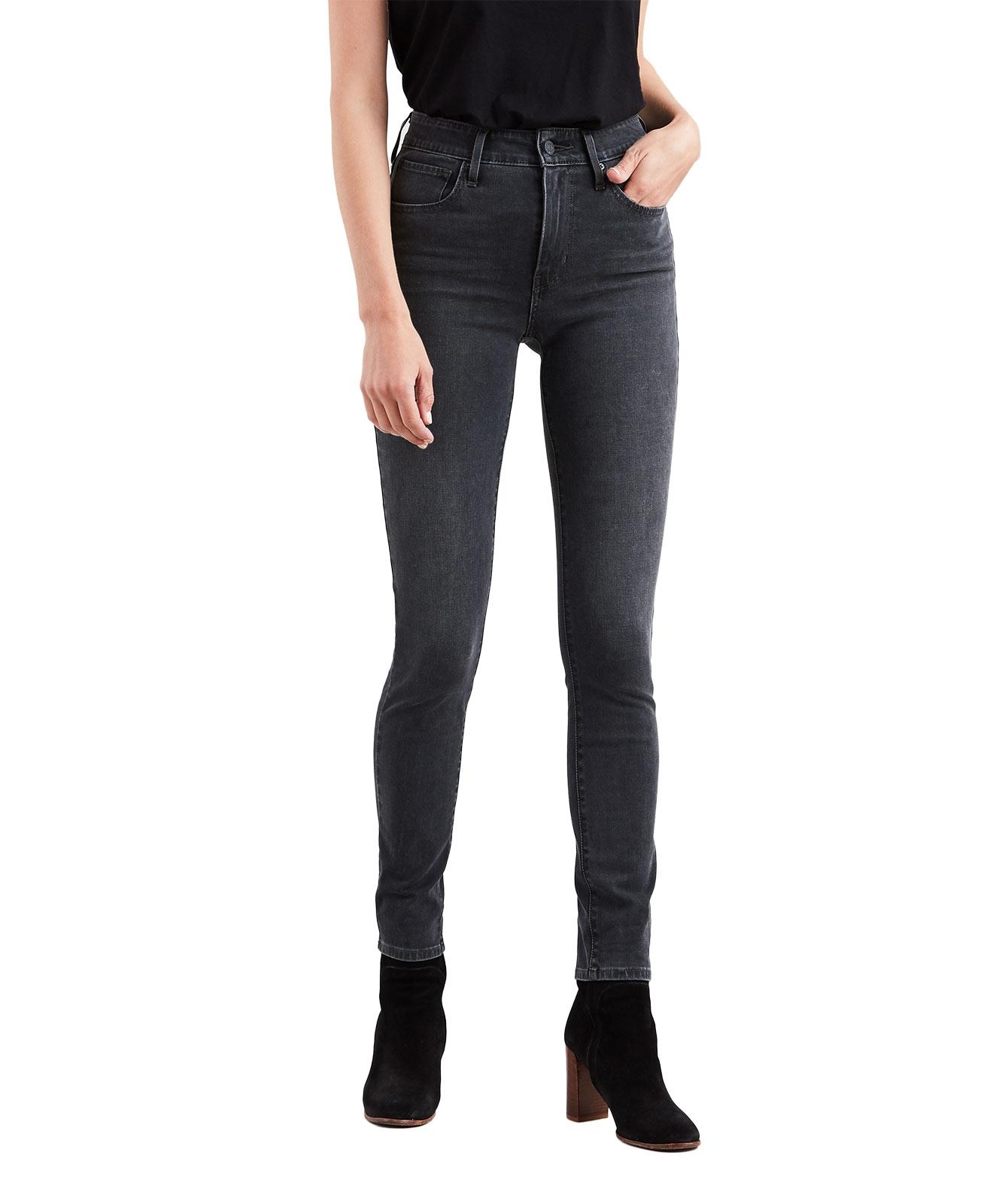 Hosen für Frauen - Levis 721 High Rise Skinny Jeans in dunkler Waschung  - Onlineshop Jeans Meile