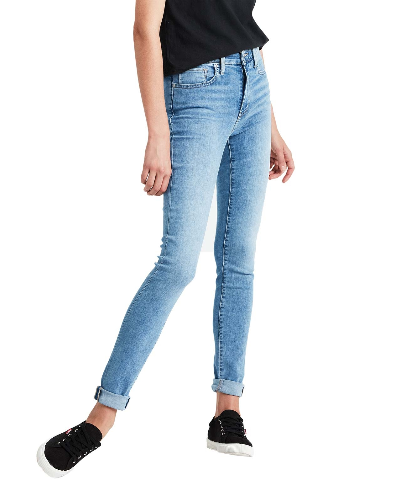 Hosen - Levis 721 High Rise Skinny Jeans in hellblauer Waschung  - Onlineshop Jeans Meile
