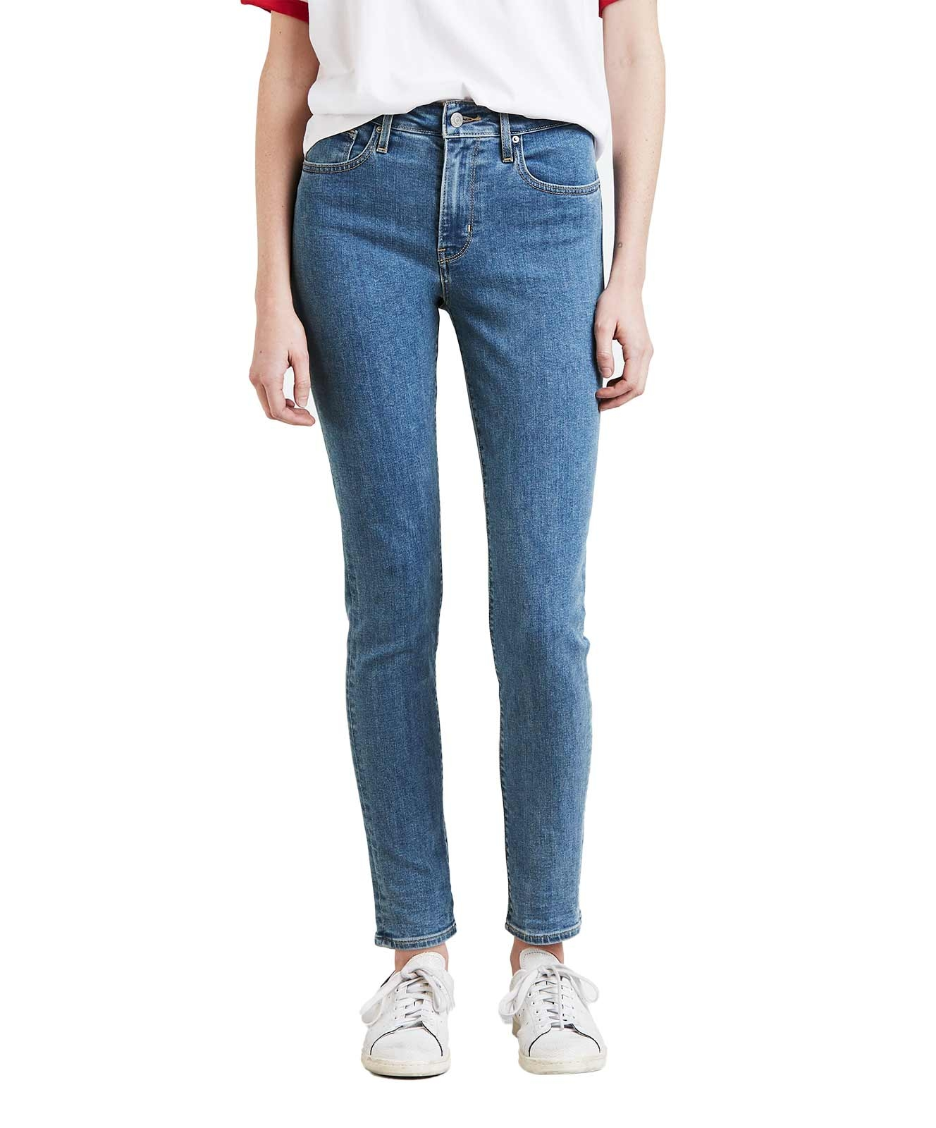 Hosen - Levis 721 High Rise Skinny Jeans in Stonewash  - Onlineshop Jeans Meile