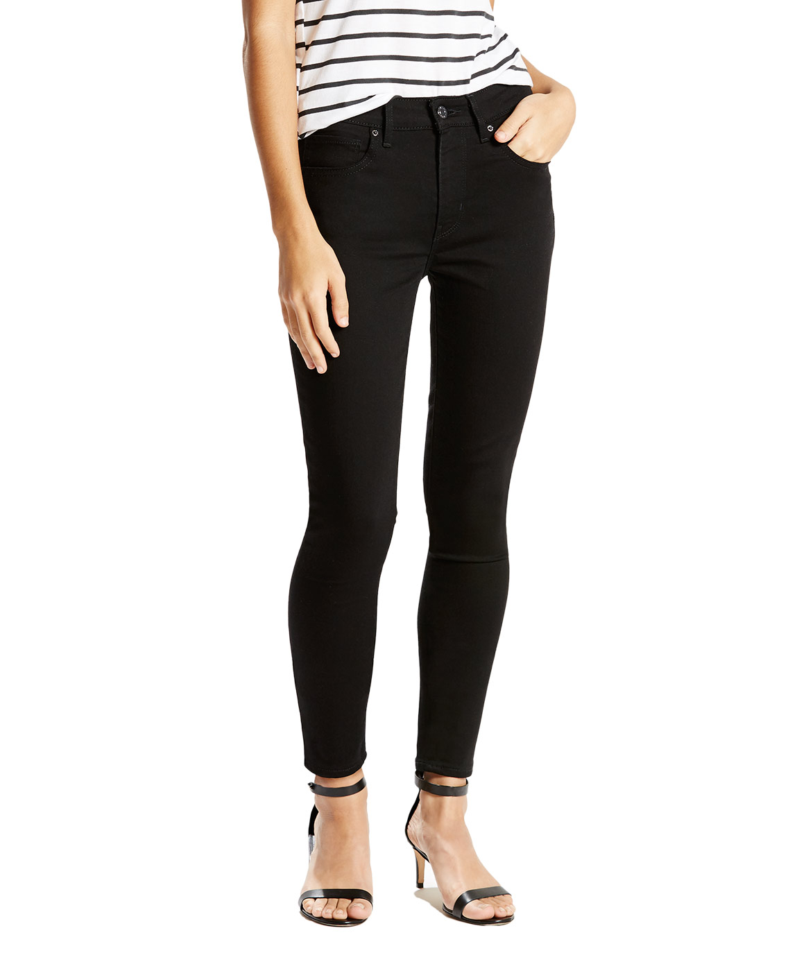 Hosen für Frauen - Levis 721 HIGH RISE SKINNY Slim Fit Black Sheep  - Onlineshop Jeans Meile