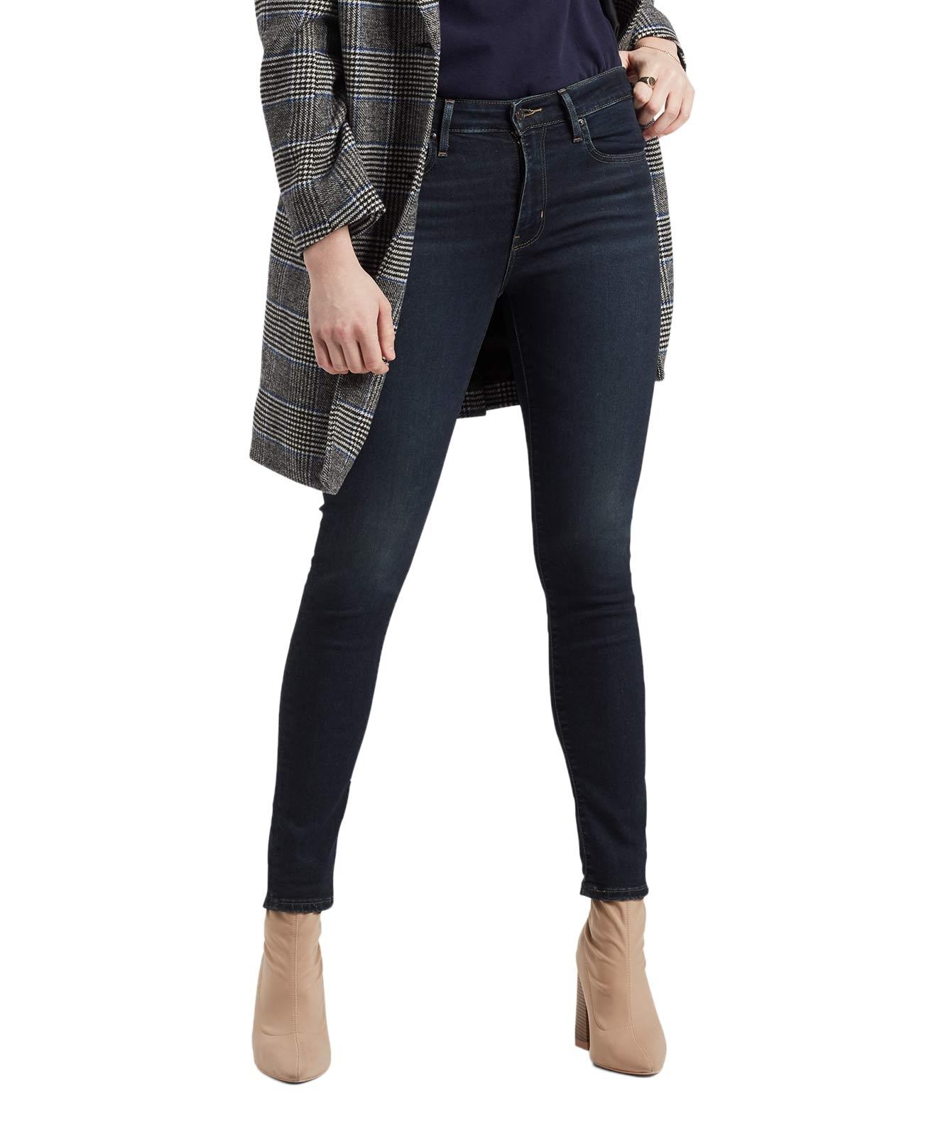 Hosen für Frauen - Levis 721 Jeans mit Vier Wege Power Stretch in London Nights  - Onlineshop Jeans Meile