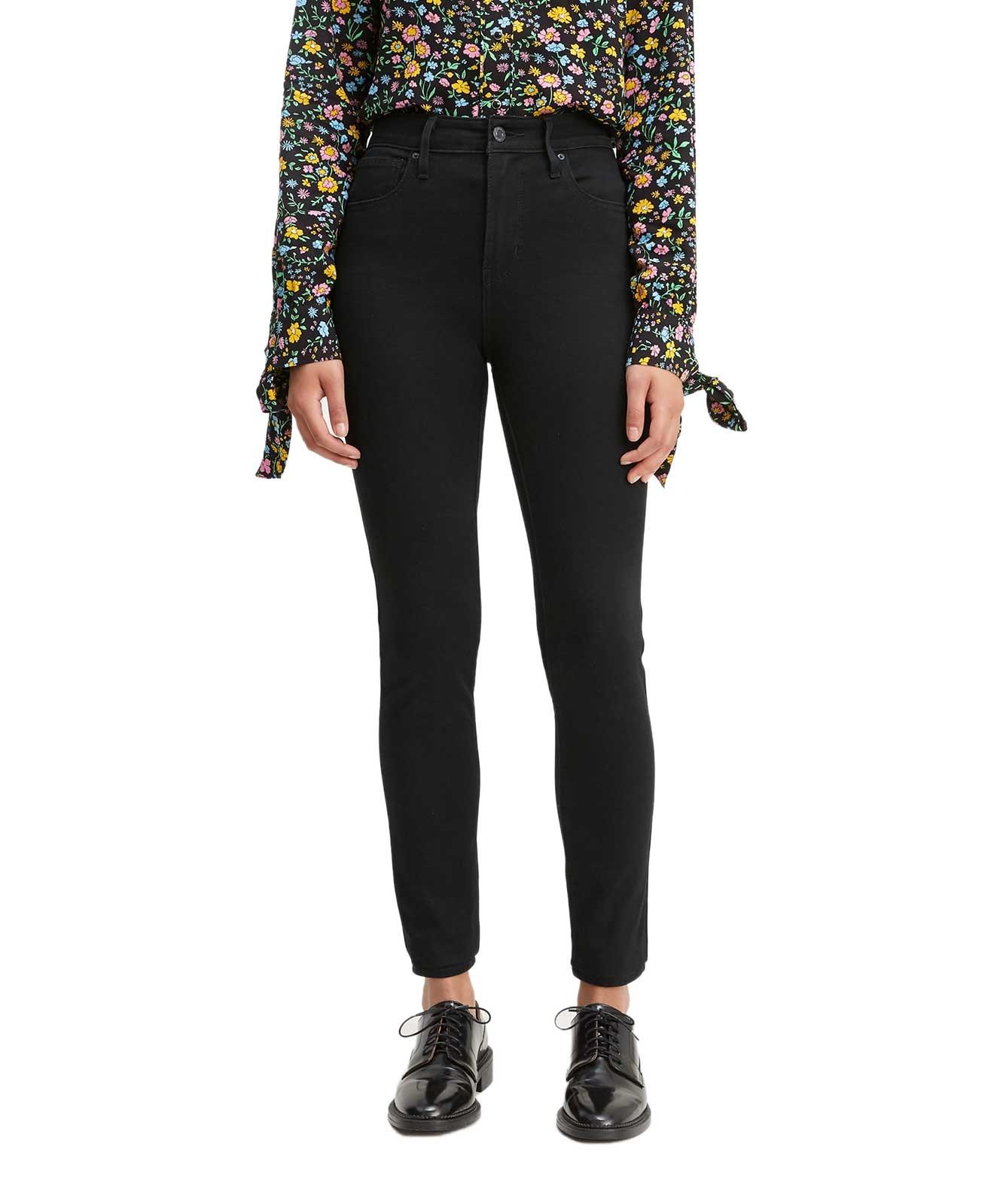 Hosen für Frauen - Levis 721 schwarze Jeans mit Vier Wege Power Stretch  - Onlineshop Jeans Meile