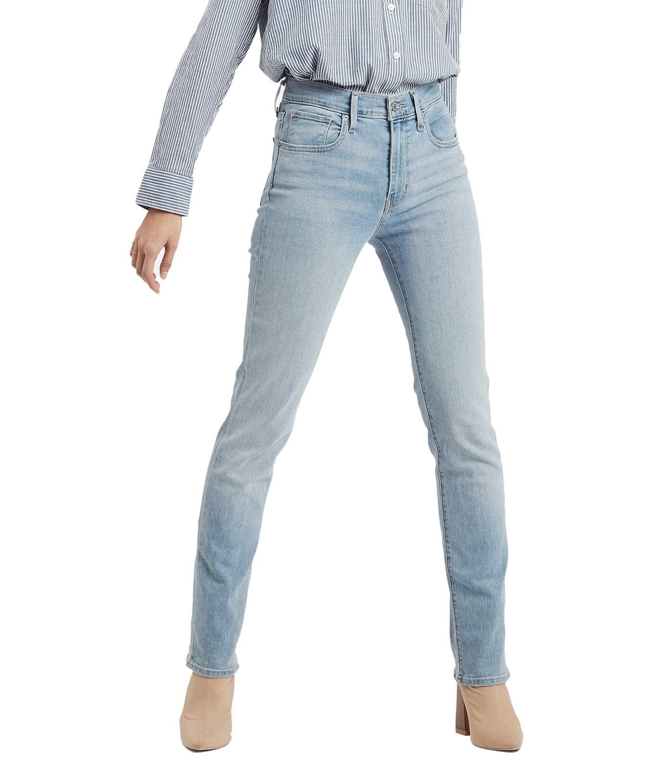 Hosen für Frauen - Levis 724 helle High Waisted Jeans mit geradem Bein  - Onlineshop Jeans Meile