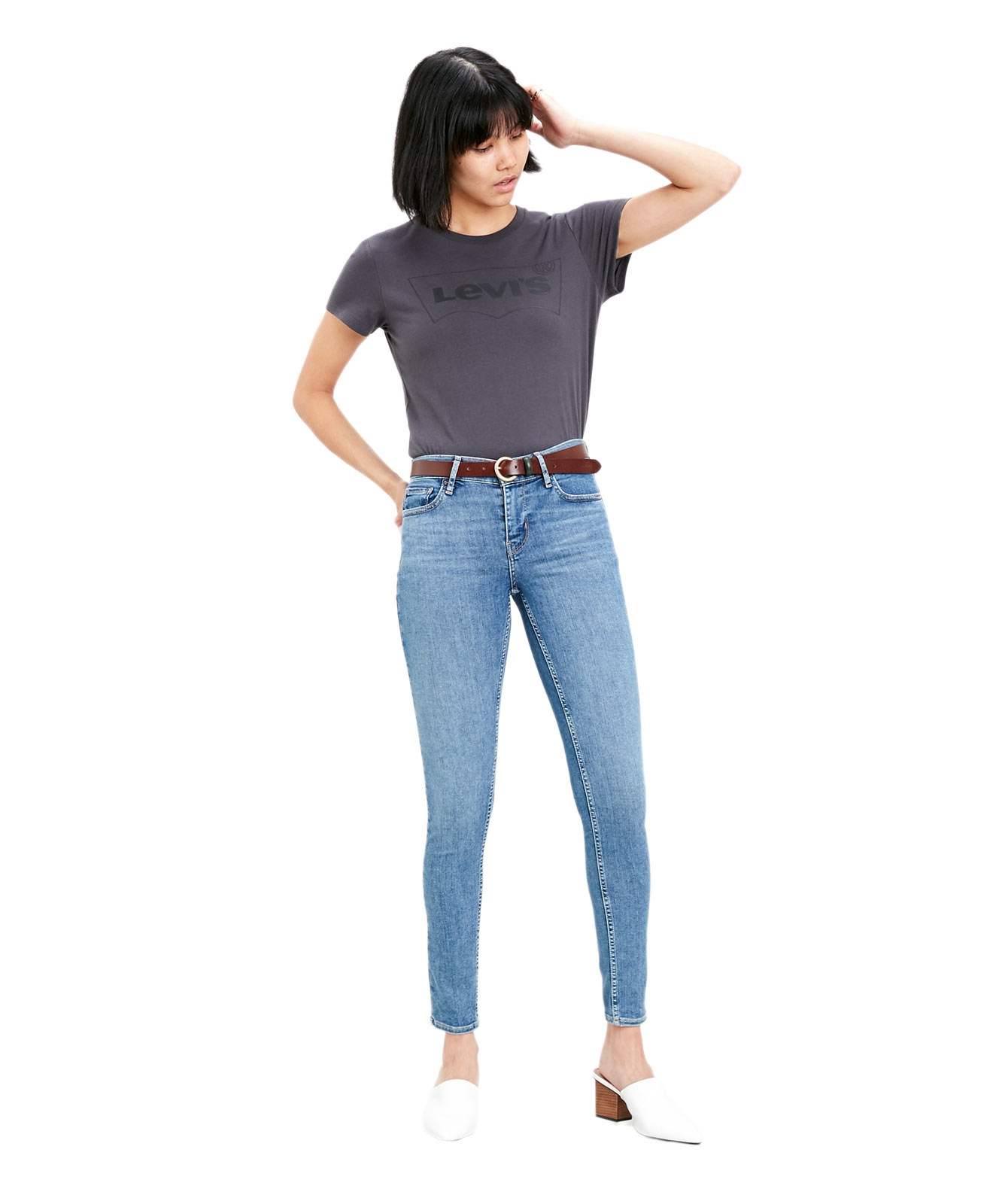 Hosen - Levi's Jeans Damen Super Skinny 710 in Velocity Upbeat  - Onlineshop Jeans Meile