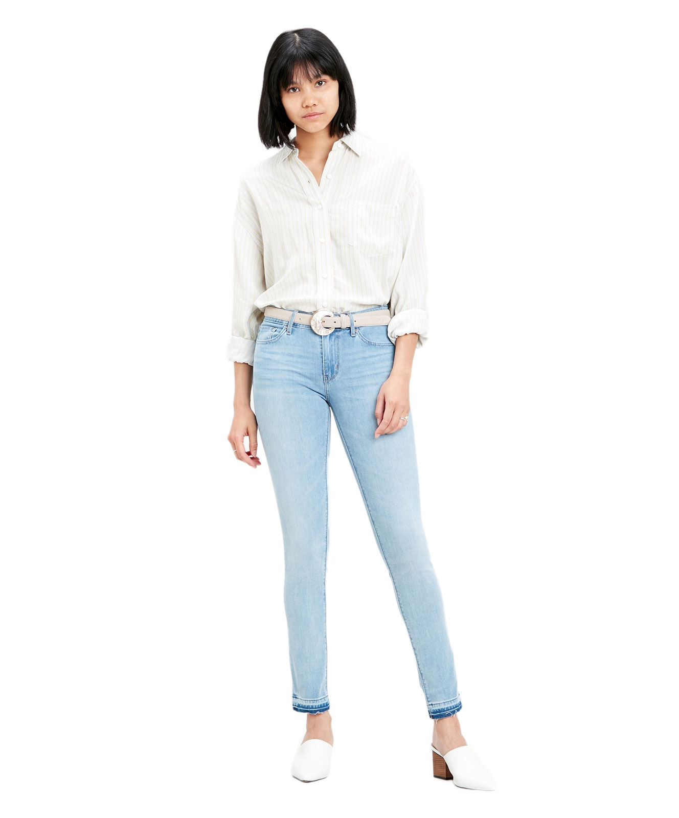 Hosen - Levi's Damen Skinny Jeans 711 in To The Wire  - Onlineshop Jeans Meile