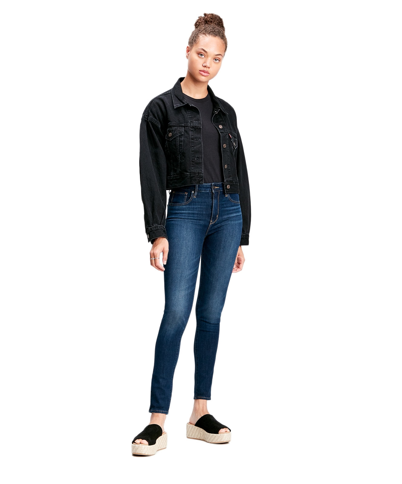 Hosen - Levis High Waisted Skinny Jeans 721 in Smooth It Out  - Onlineshop Jeans Meile