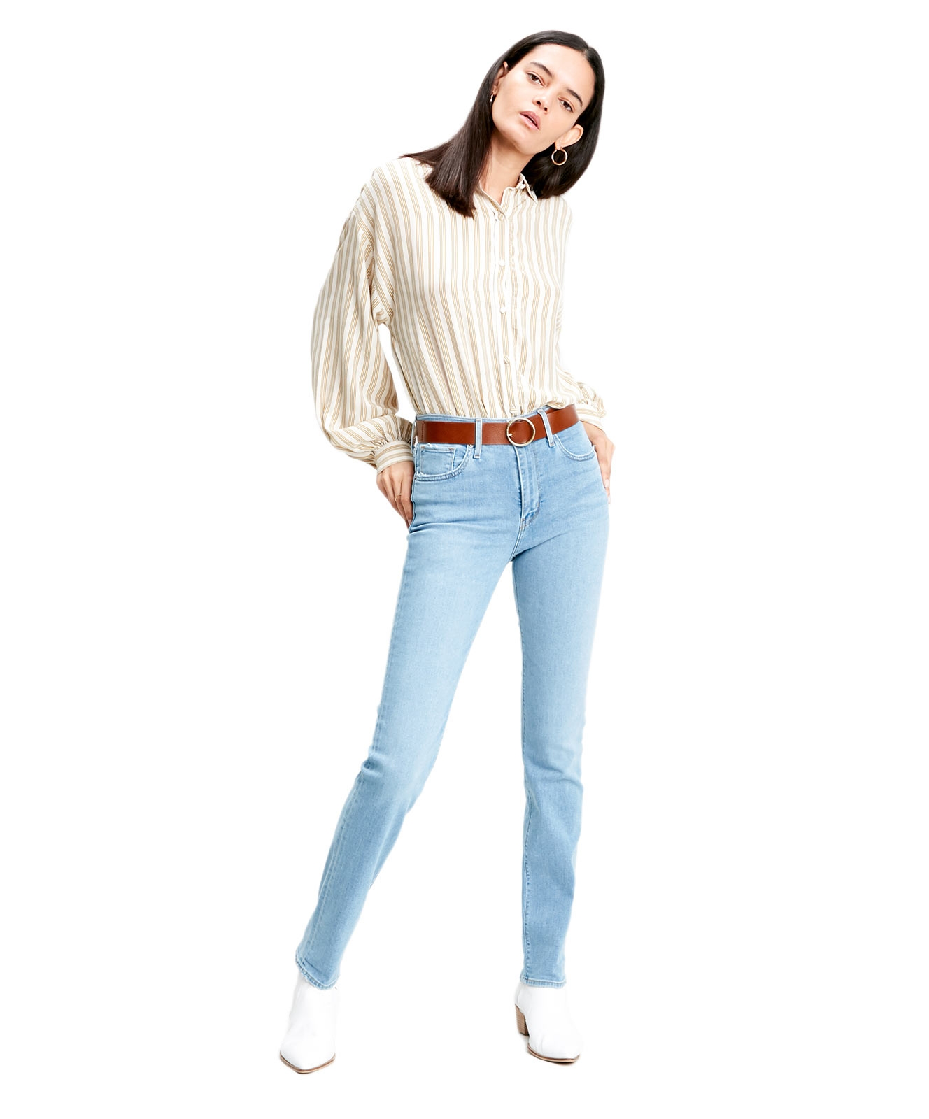 Hosen - Levis Mom Jeans 724 High Rise Straight in Los Angeles Steeze  - Onlineshop Jeans Meile