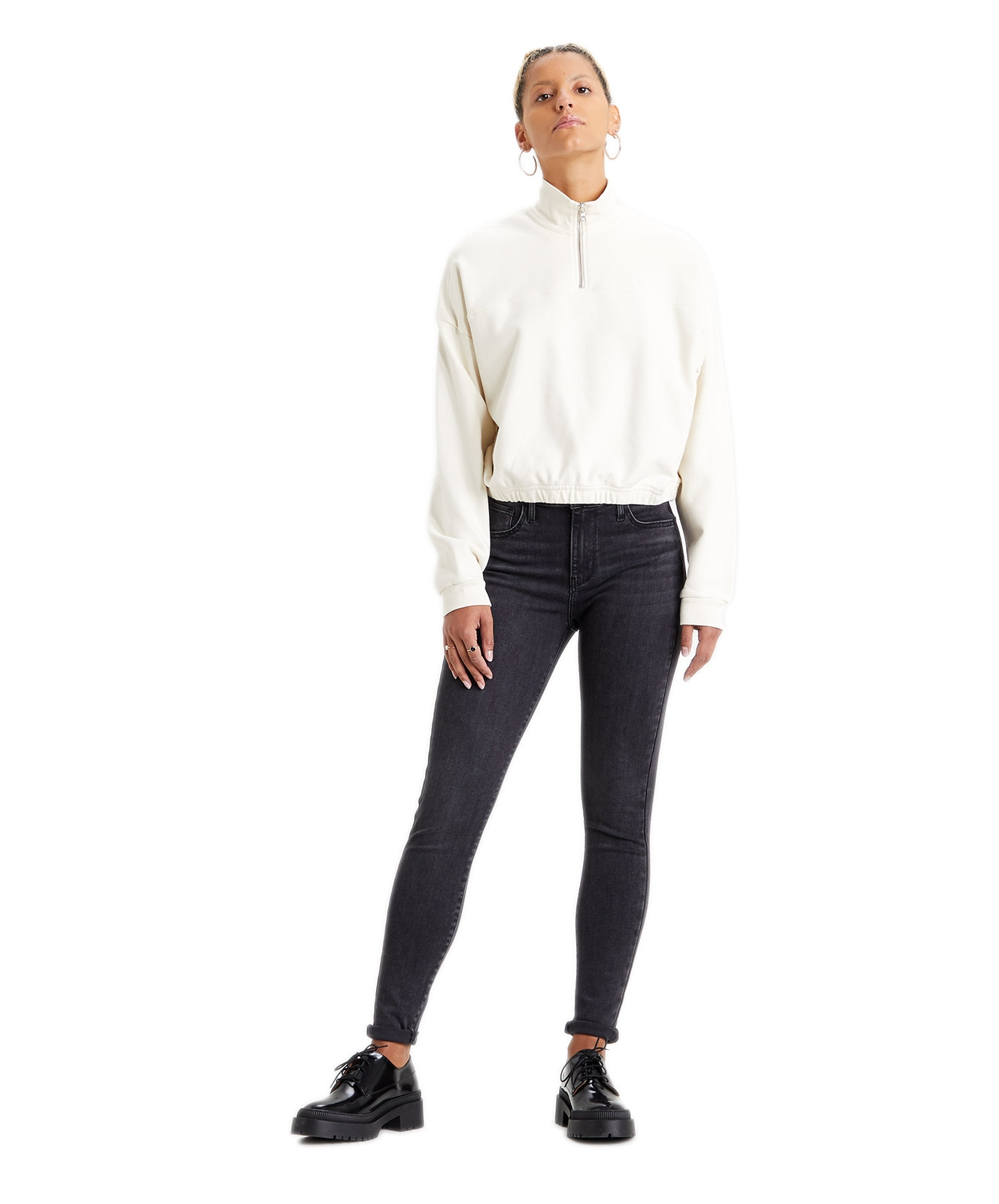 Hosen - Levis High Waisted Jeans 720 High Rise Super Skinny in Smoked Out  - Onlineshop Jeans Meile