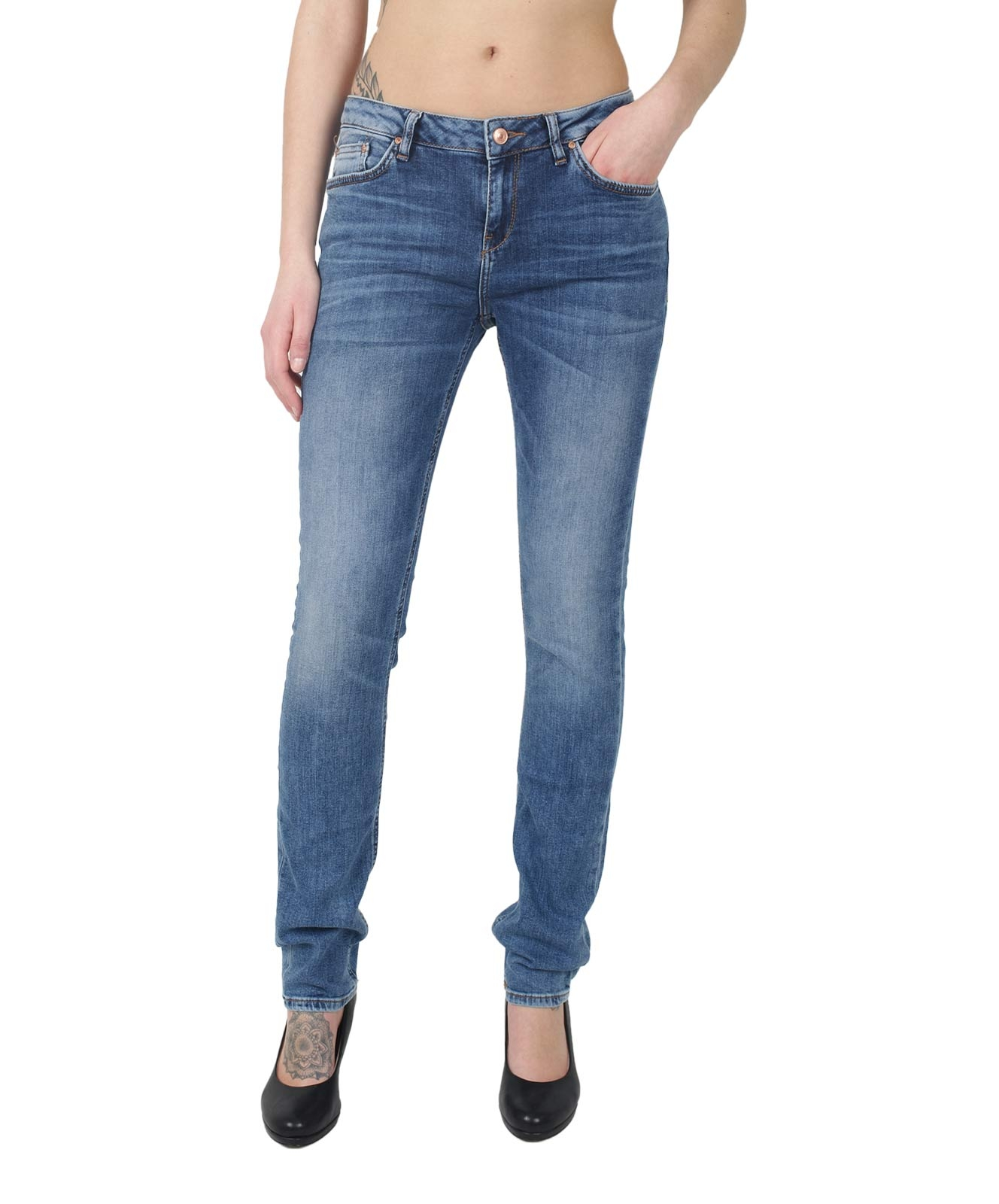 Hosen - LTB Ankle Jeans Lonia in Sior Undamaged Wash  - Onlineshop Jeans Meile