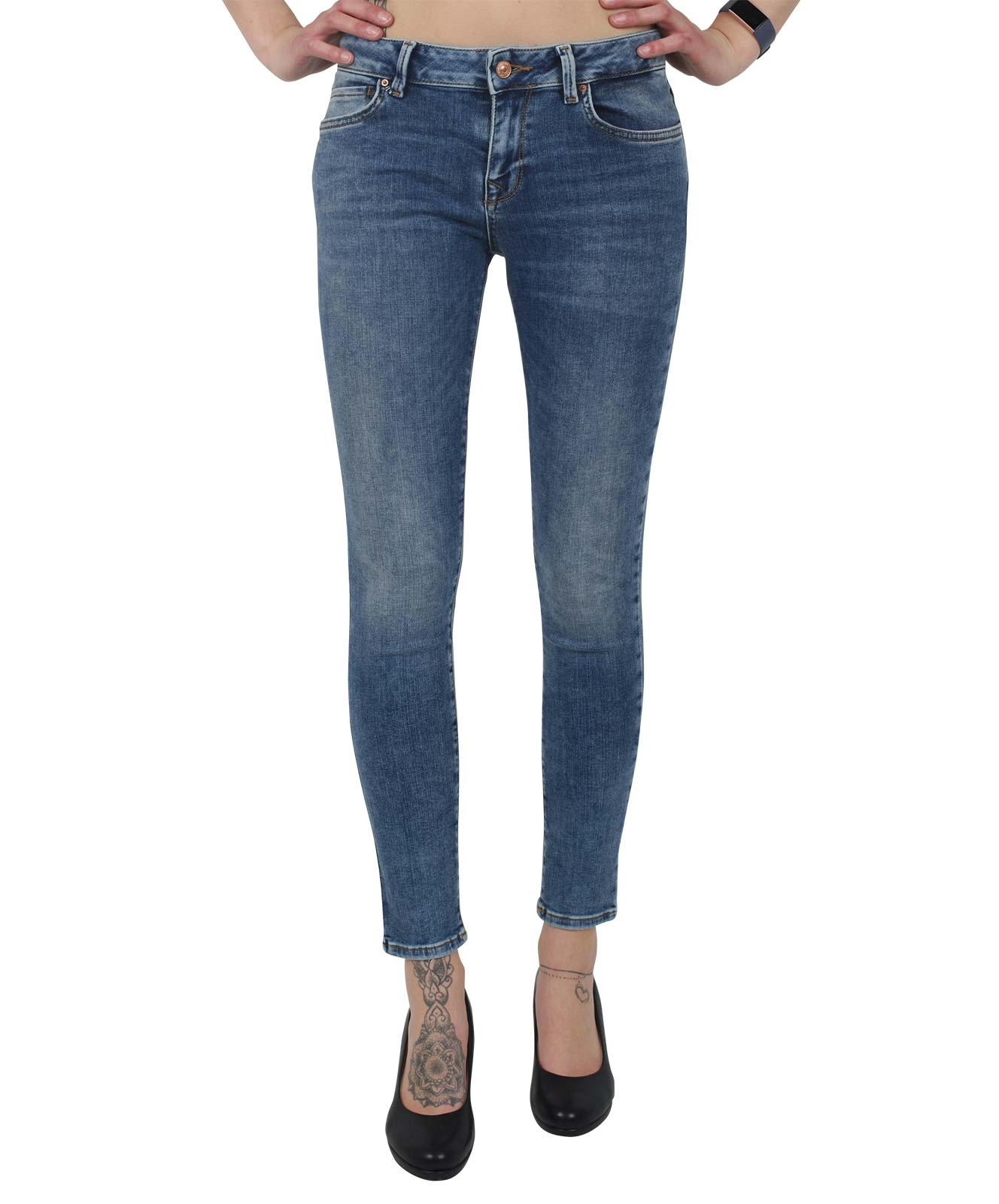 Hosen - LTB Jeans Röhre Nicole in Yule Wash  - Onlineshop Jeans Meile