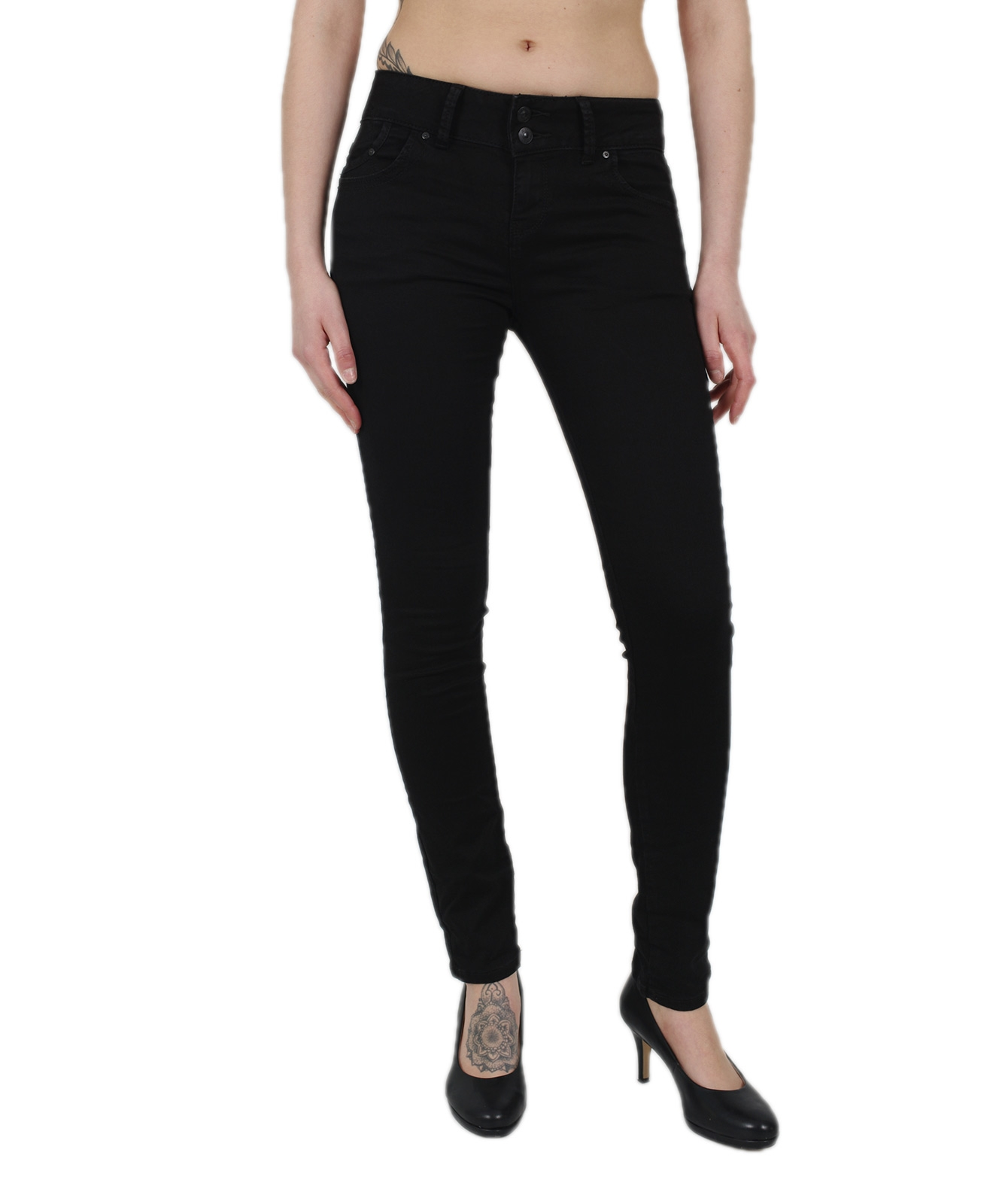 Hosen - LTB Jeans Röhre Molly M in Black To Black  - Onlineshop Jeans Meile