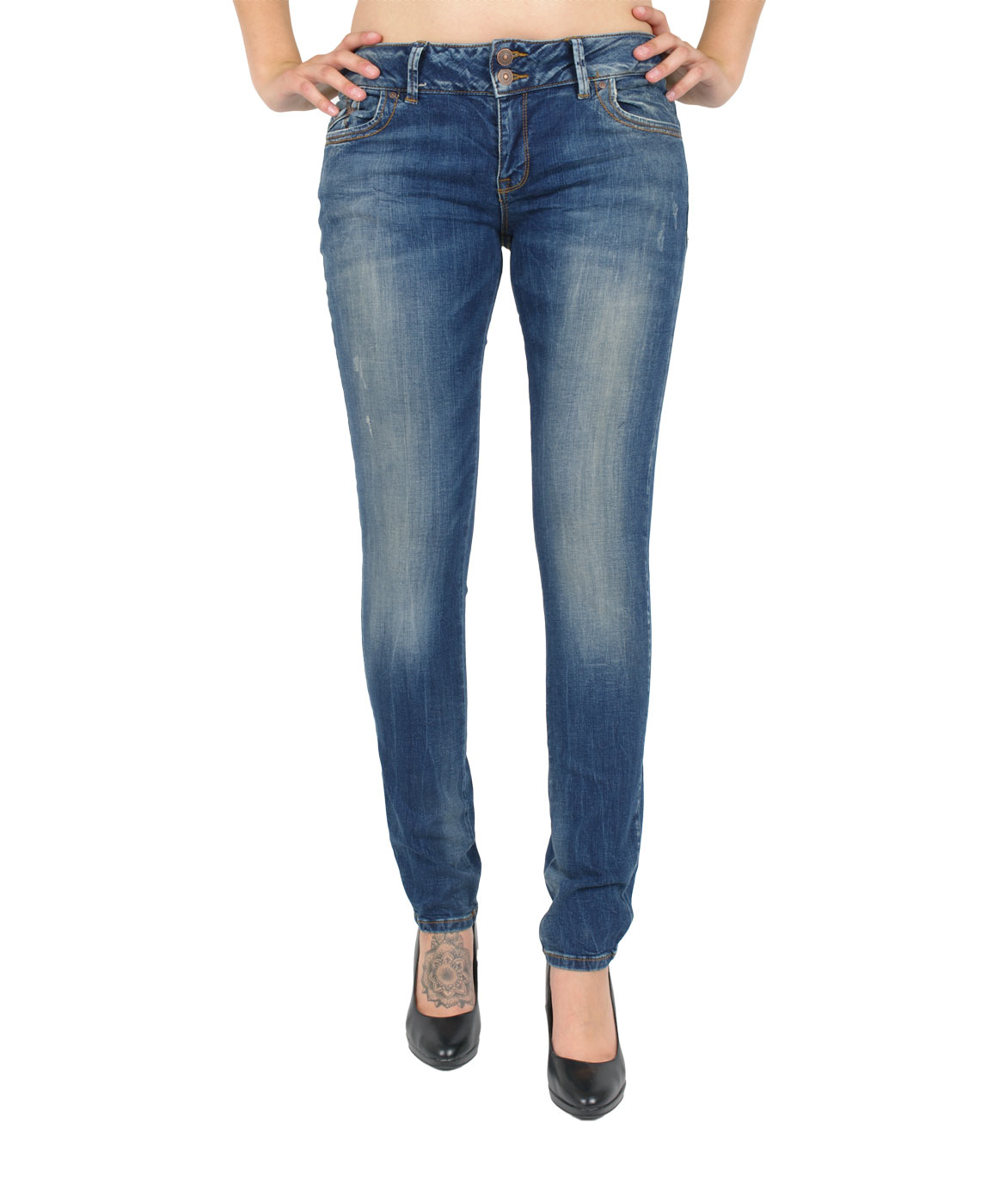 Hosen - LTB Slim Fit Jeans Molly in Erwina  - Onlineshop Jeans Meile