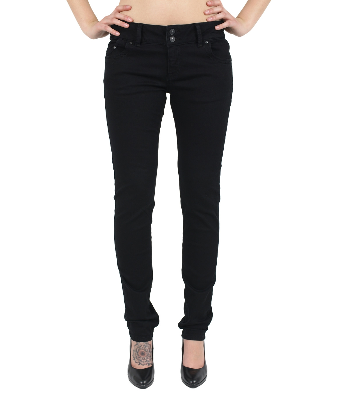 Hosen - LTB Jeans Röhre Molly in Black To Black  - Onlineshop Jeans Meile