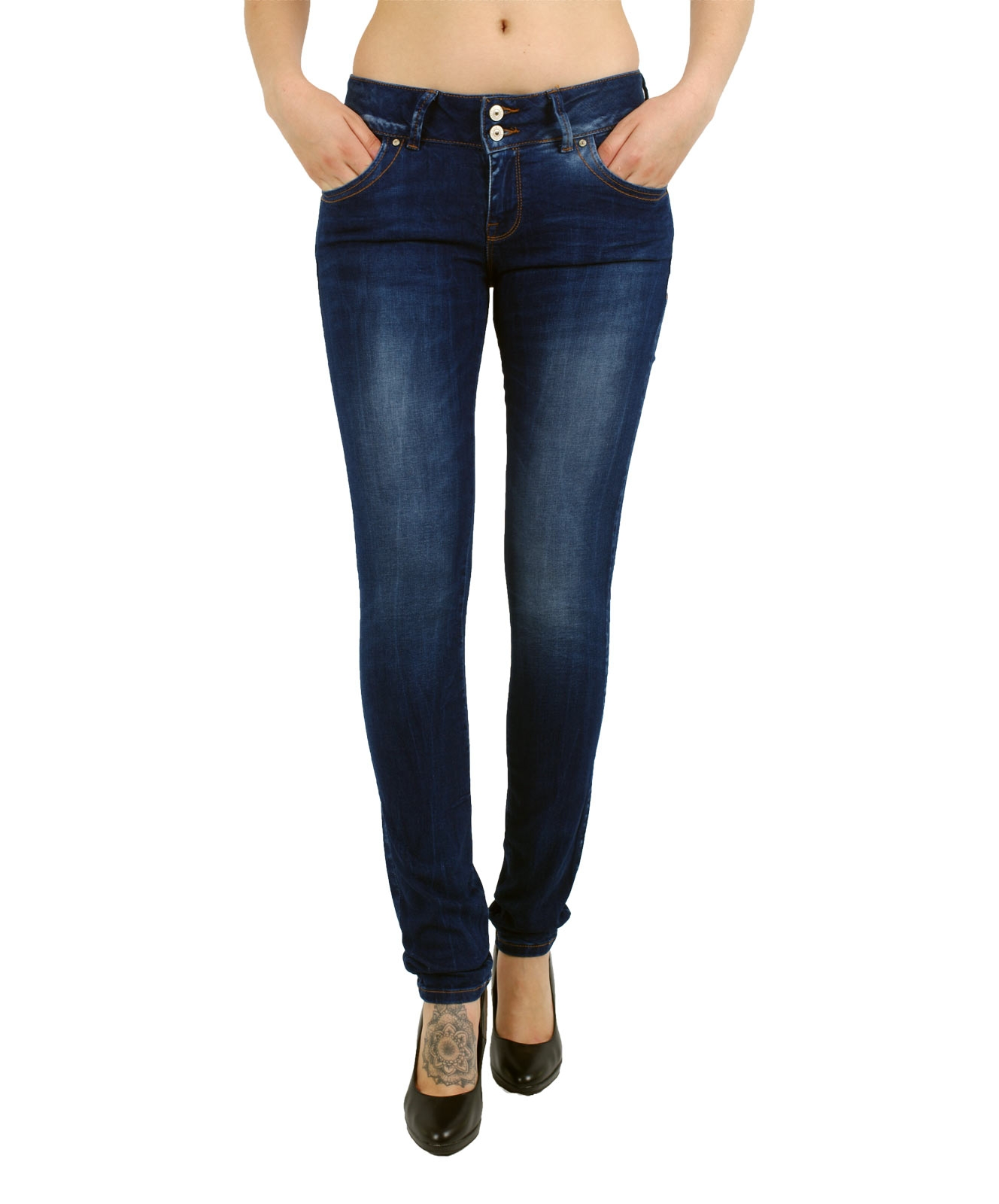 Hosen - LTB Slim Fit Jeans Molly in Heal Wash  - Onlineshop Jeans Meile