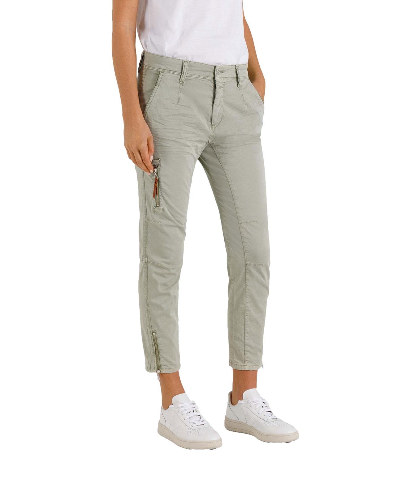 Hosen - Mac Cargohose Rich im Relaxed Slim Fit aus grünem Cotton  - Onlineshop Jeans Meile