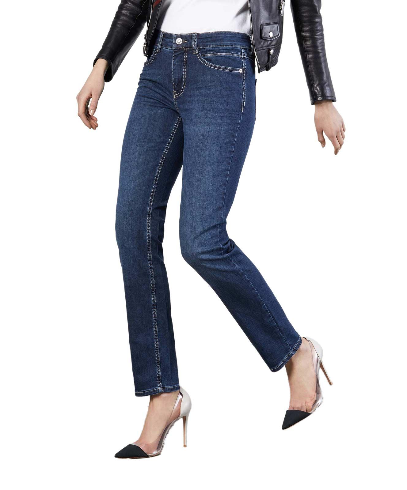 Hosen - MAC Slim Fit Jeans Angela in New Basic Denim  - Onlineshop Jeans Meile