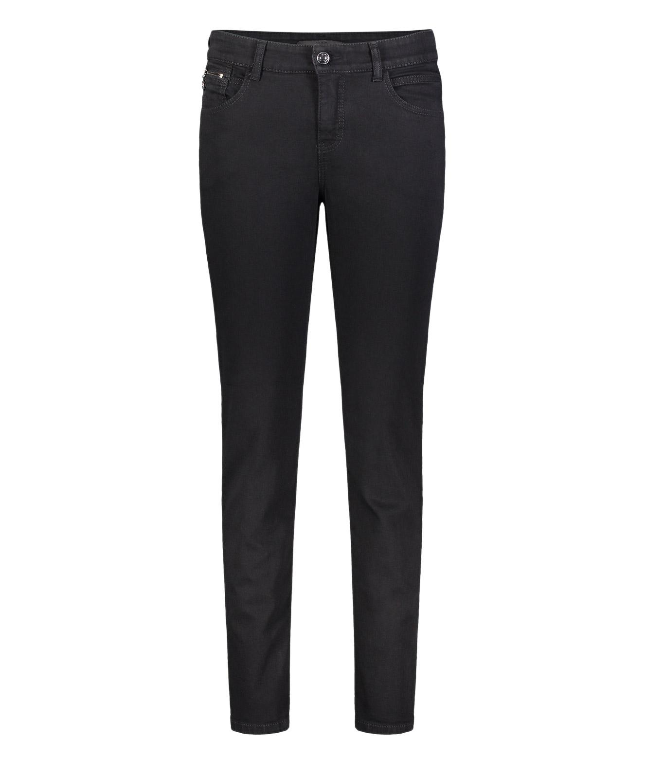 Hosen - MAC Slim Fit Jeans Carrie Pipe in Black Black  - Onlineshop Jeans Meile