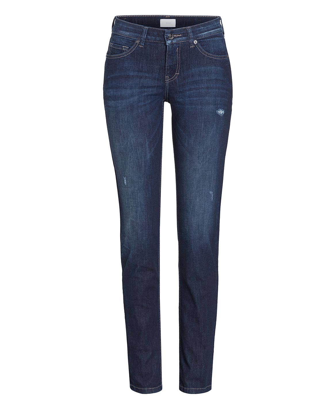 CARRIE PIPE - Straight Fit - Dark Authentic Wash