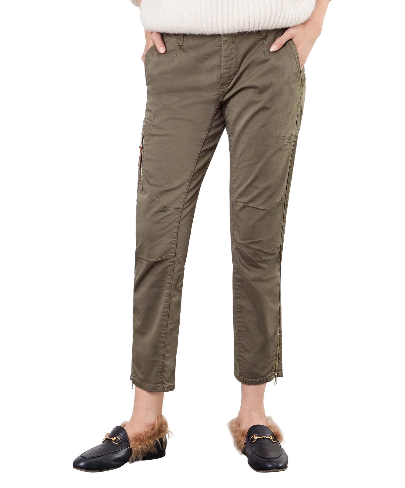 Hosen - Mac Hose Rich Cargo Relaxed Slim Fit in dunklem Olive  - Onlineshop Jeans Meile