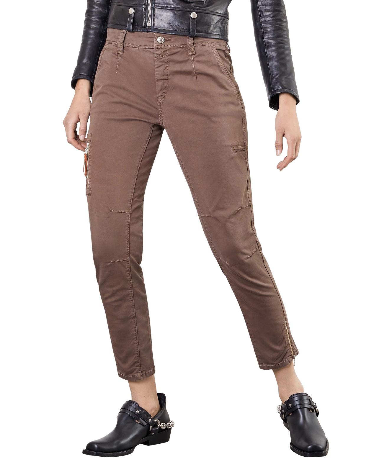 Hosen - Mac Rich Cargo Hose Relaxed Slim Fit in braunen Nutria  - Onlineshop Jeans Meile