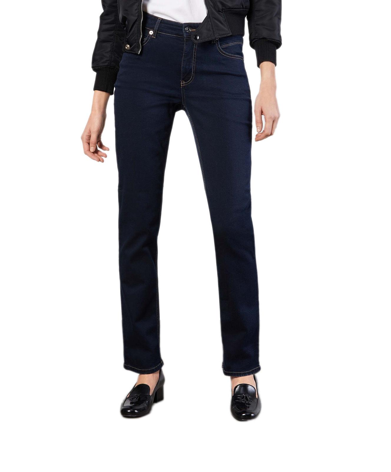 Hosen - MAC Straight Leg Jeans Melanie in Dark Rinsewash  - Onlineshop Jeans Meile
