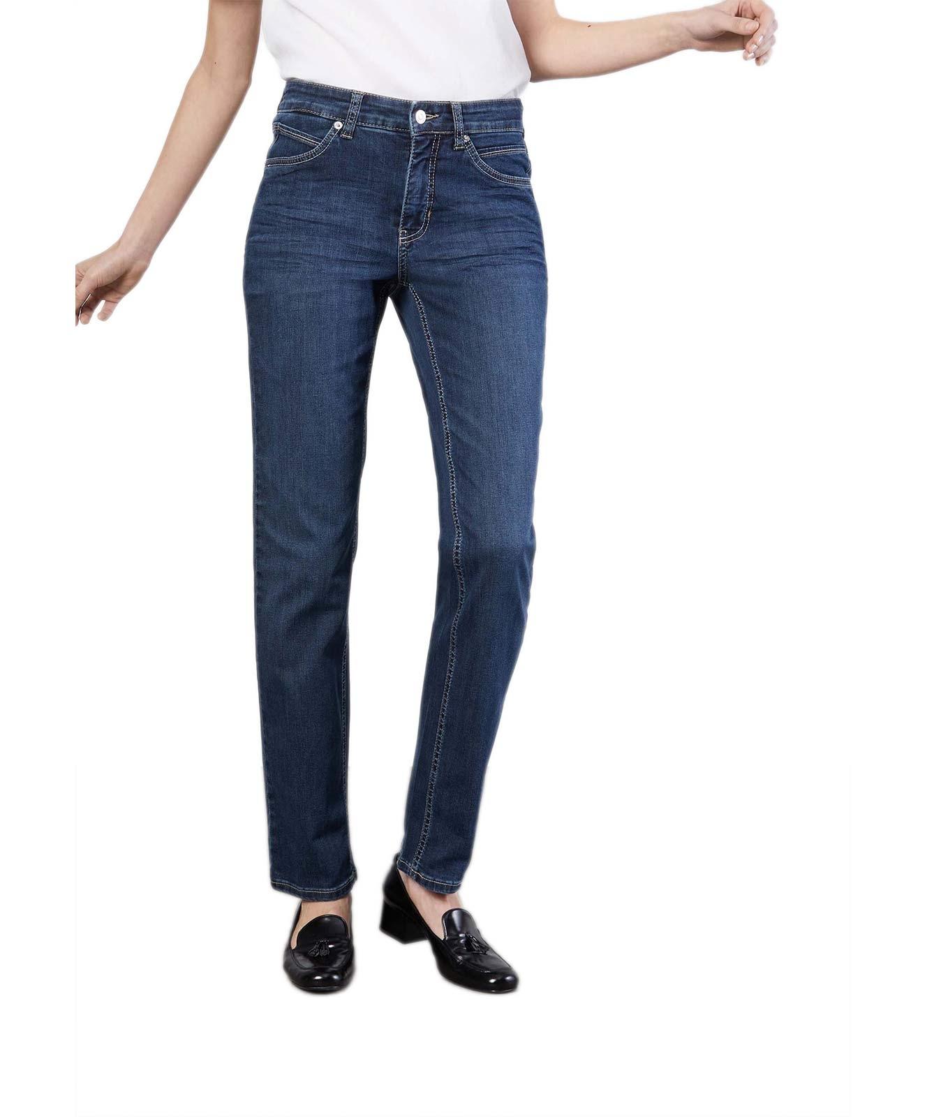 Hosen - MAC Straight Leg Jeans Melanie in New Basic Wash  - Onlineshop Jeans Meile