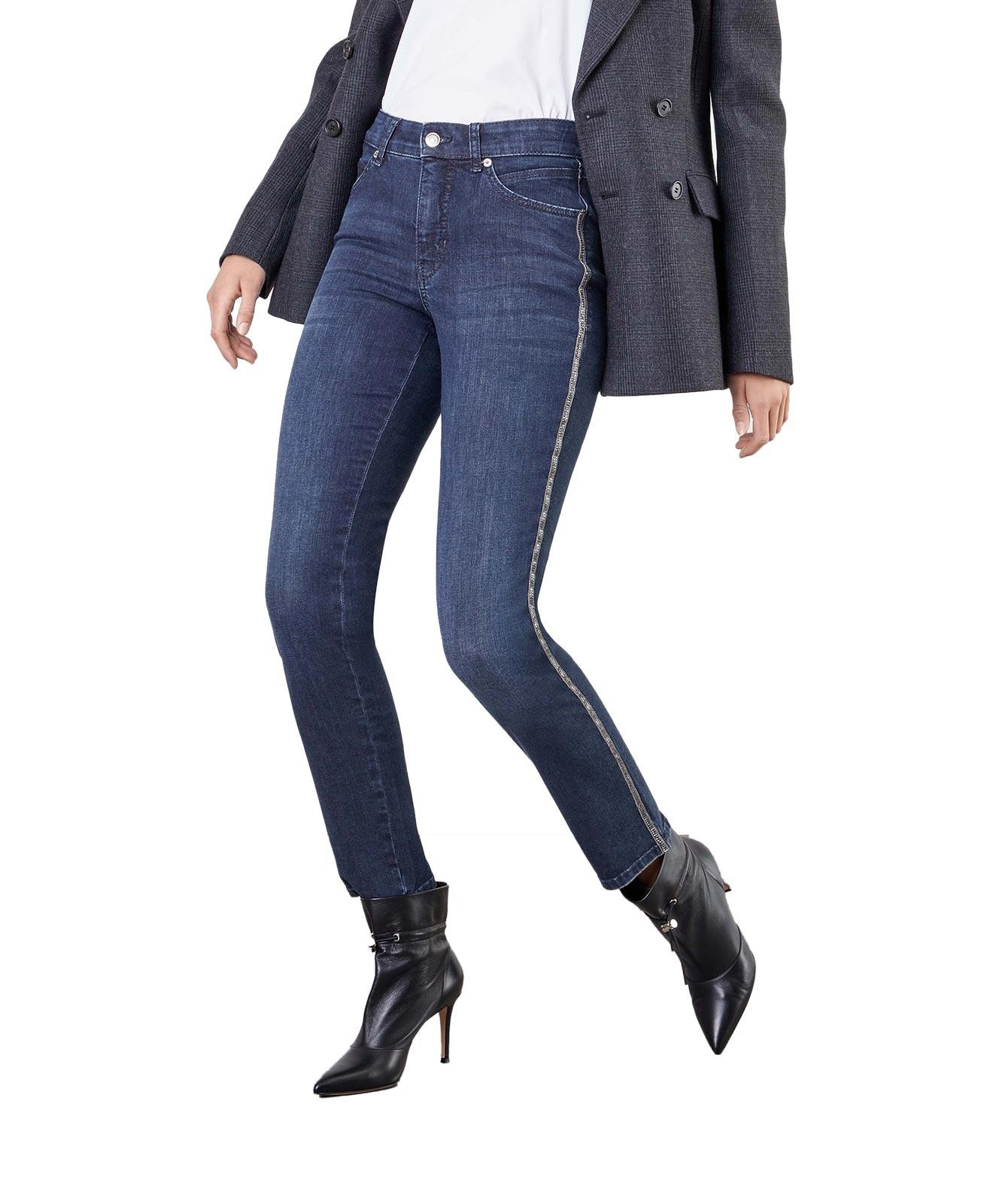 Hosen - MAC Slim Fit Jeans Melanie New in Dark Blue Authentic Wash  - Onlineshop Jeans Meile