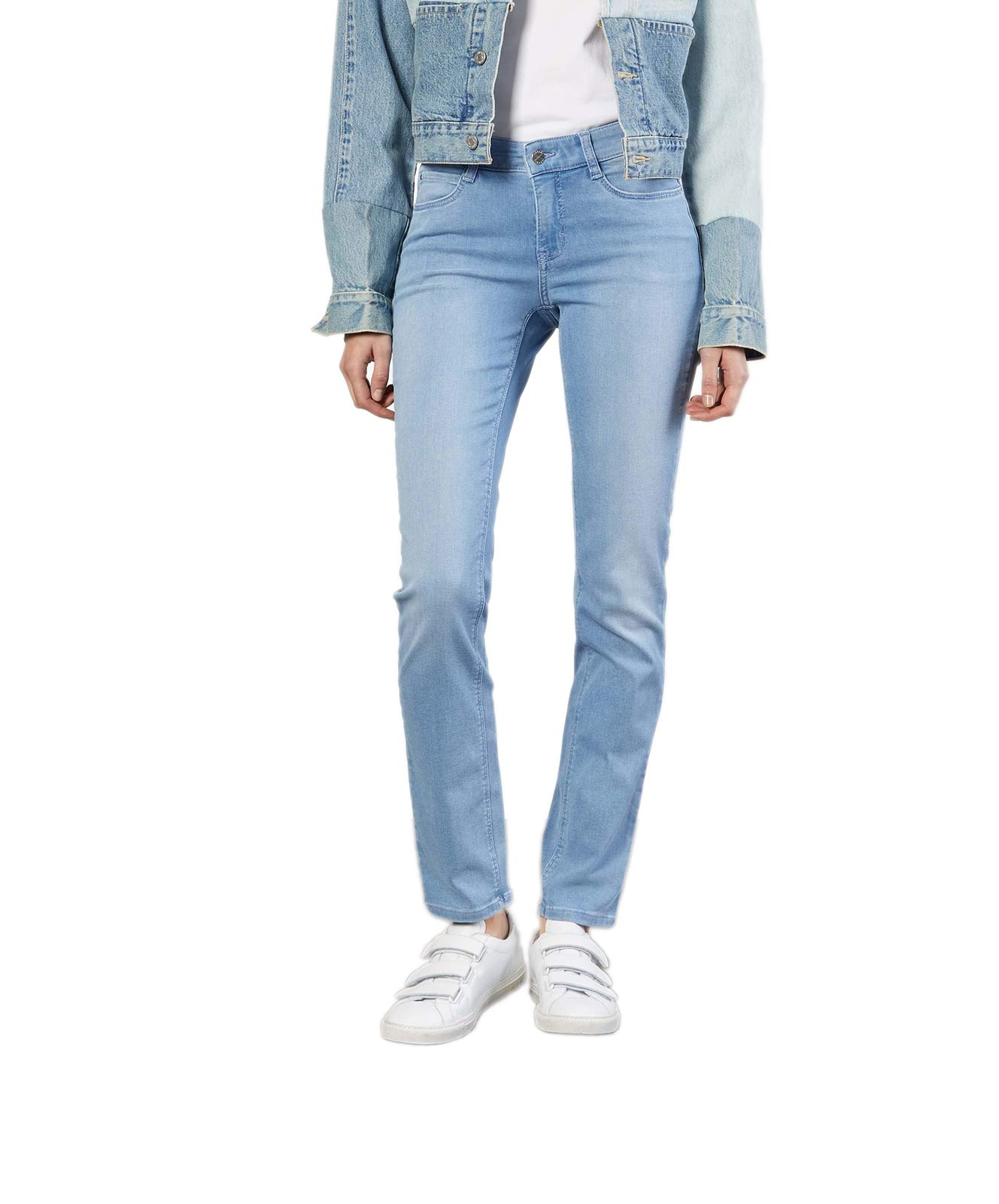 Hosen - MAC Straight Leg Jeans Dream in Basic Bleached Blue  - Onlineshop Jeans Meile