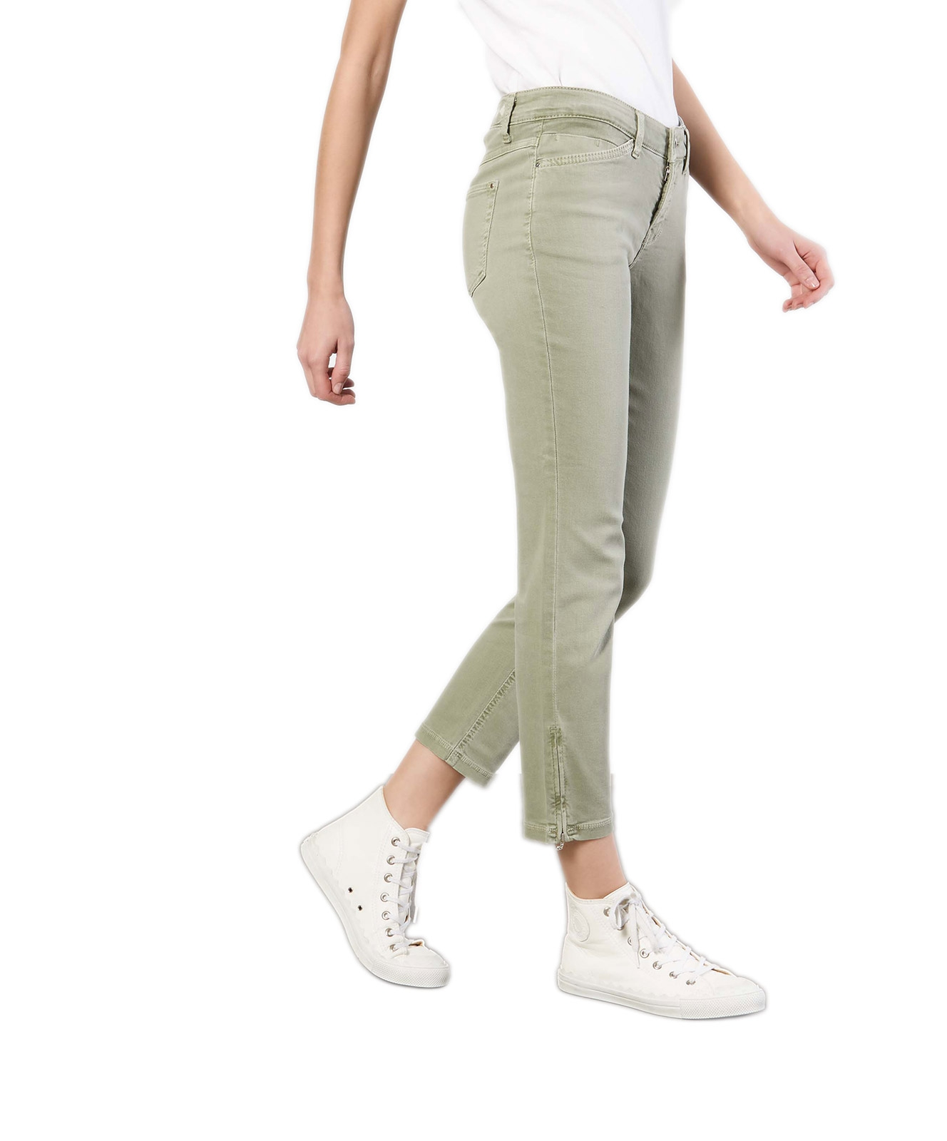 Hosen - MAC Ankle Jeans Dream Chic in Dried Rosemary  - Onlineshop Jeans Meile