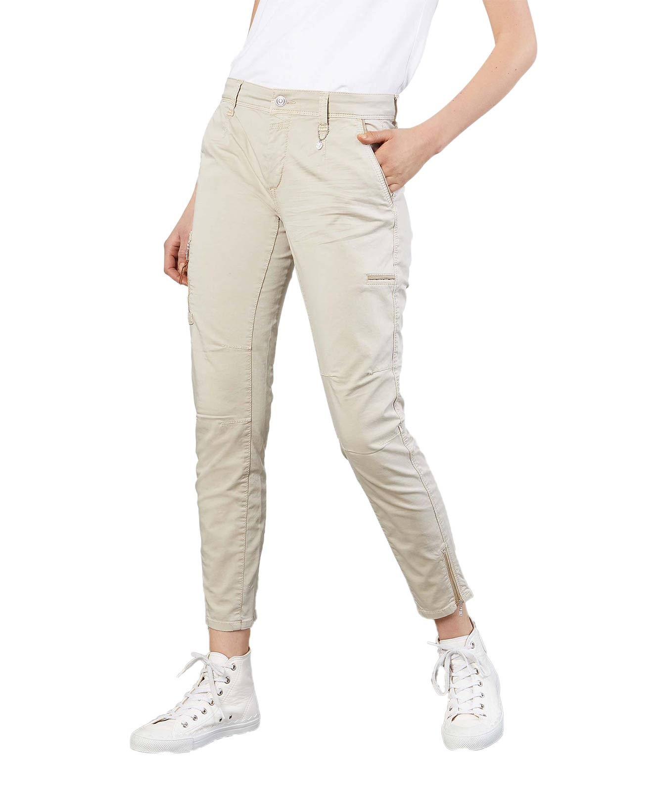 Hosen - Mac Relaxed Fit Cargohose Rich in Smoothly Beige  - Onlineshop Jeans Meile
